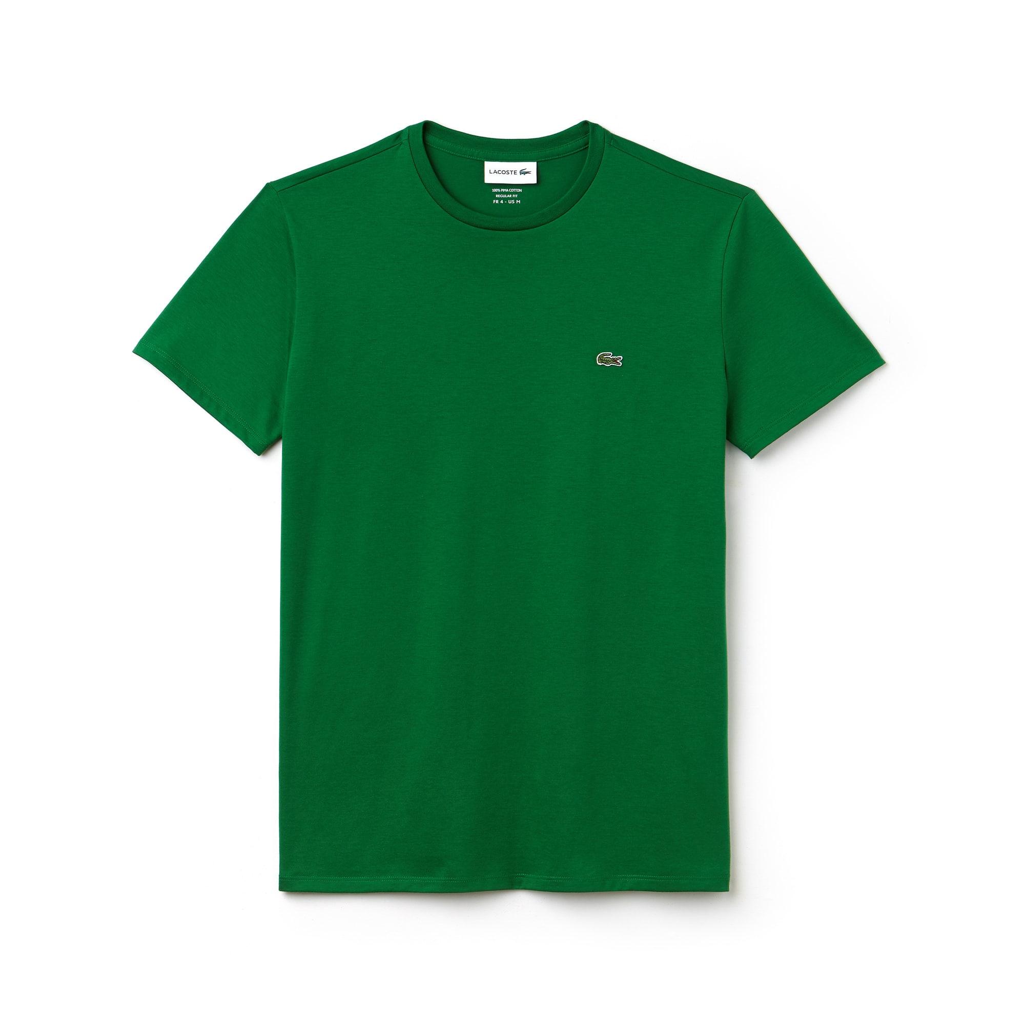 Camiseta Lacoste em Jérsei de Algodão Pima Branca
