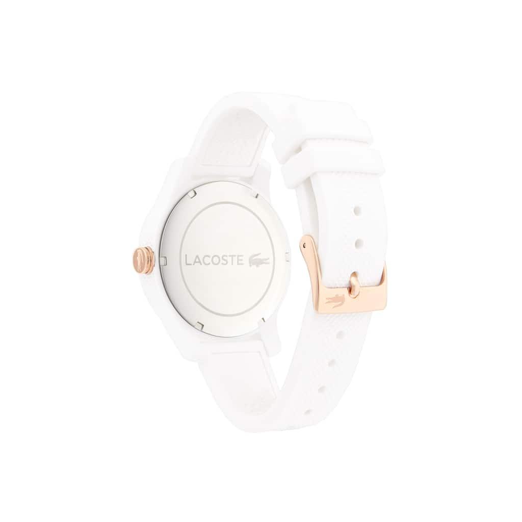 a01ea8a7fce05 Relógio Lacoste 12.12 de mulher com bracelete de silicone branca ...