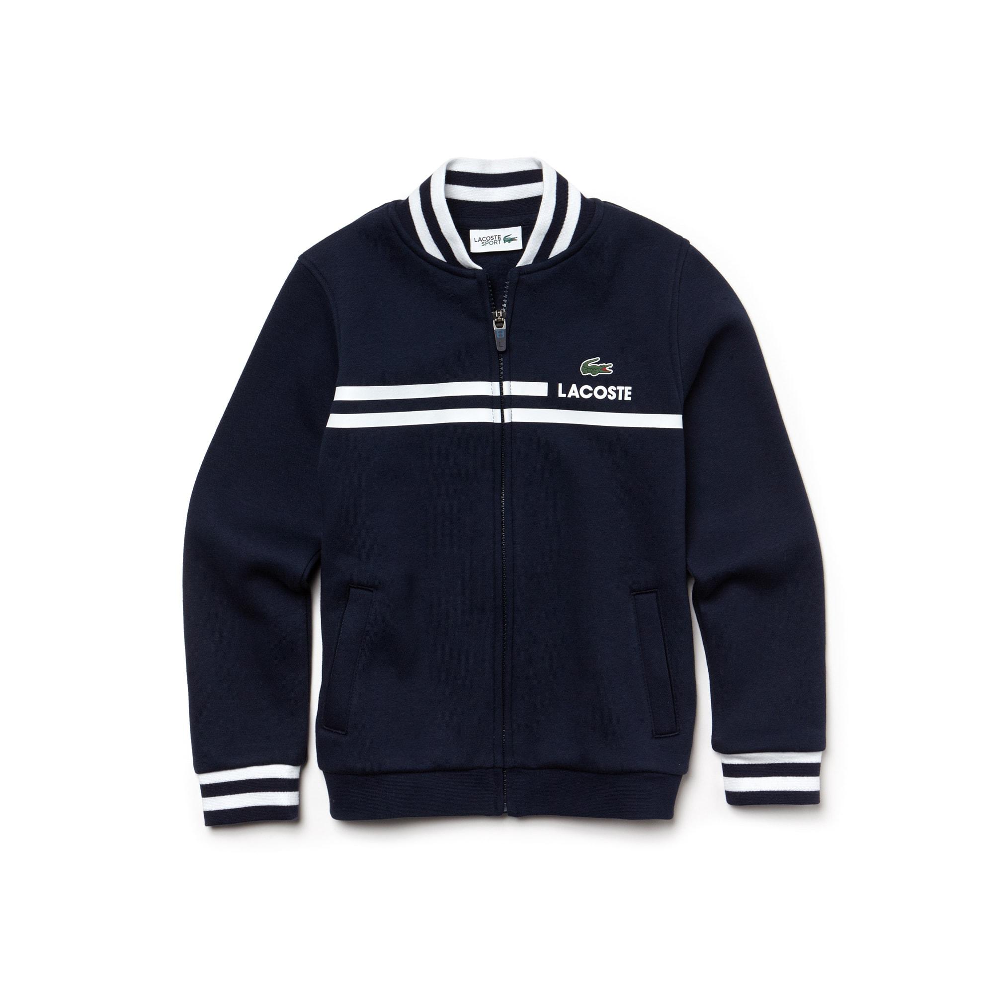 Sweatshirt com fecho de correr Menino Tennis Lacoste SPORT em moletão