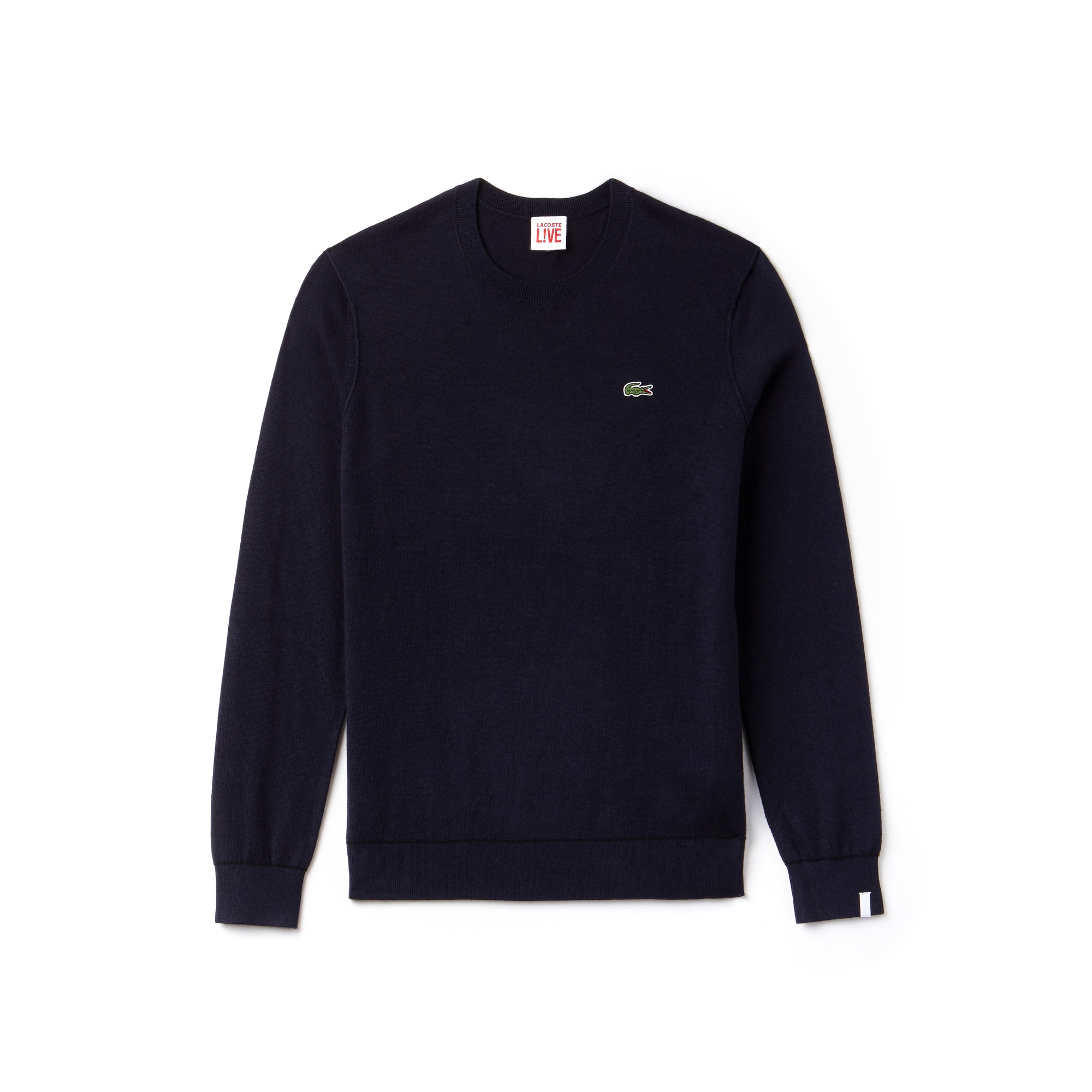 Camisola Lacoste LIVE em jersey de algodão e caxemira