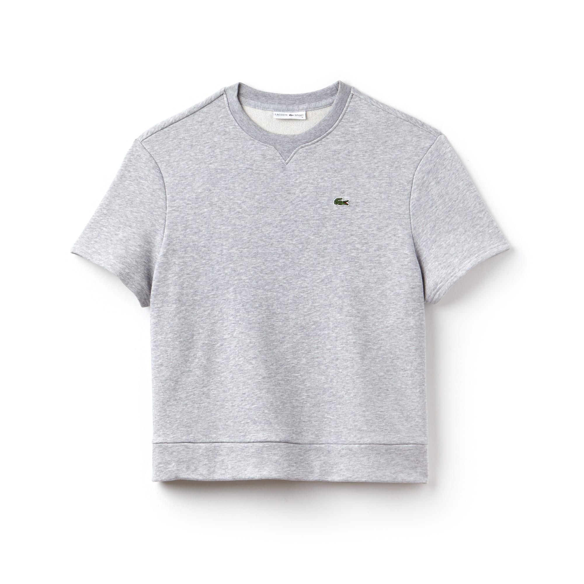 Sweatshirt com manga curta Tennis Lacoste SPORT em moletão unicolor