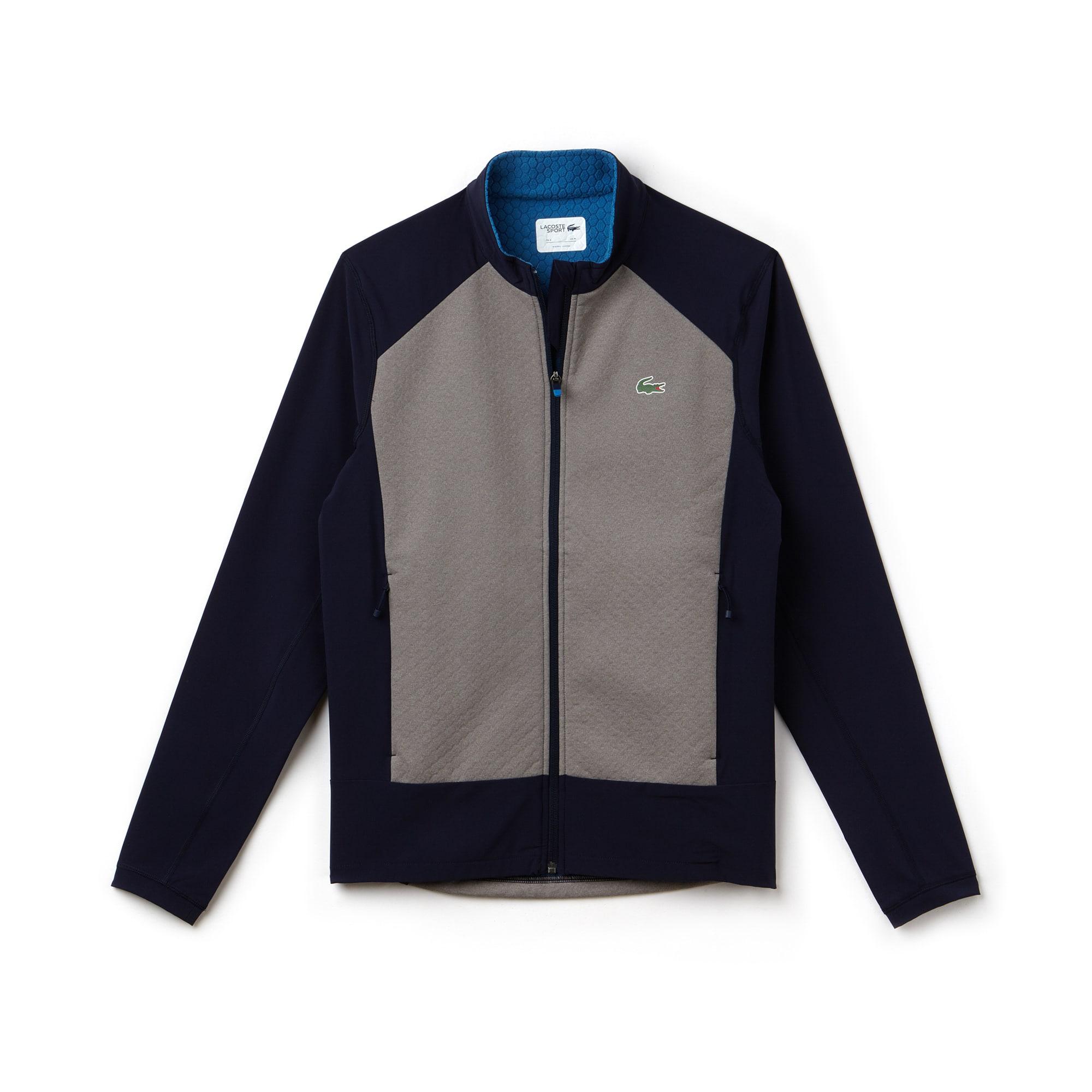 Sweatshirt com fecho de correr Golf Lacoste SPORT em tafetá e camada intermédia impermeável