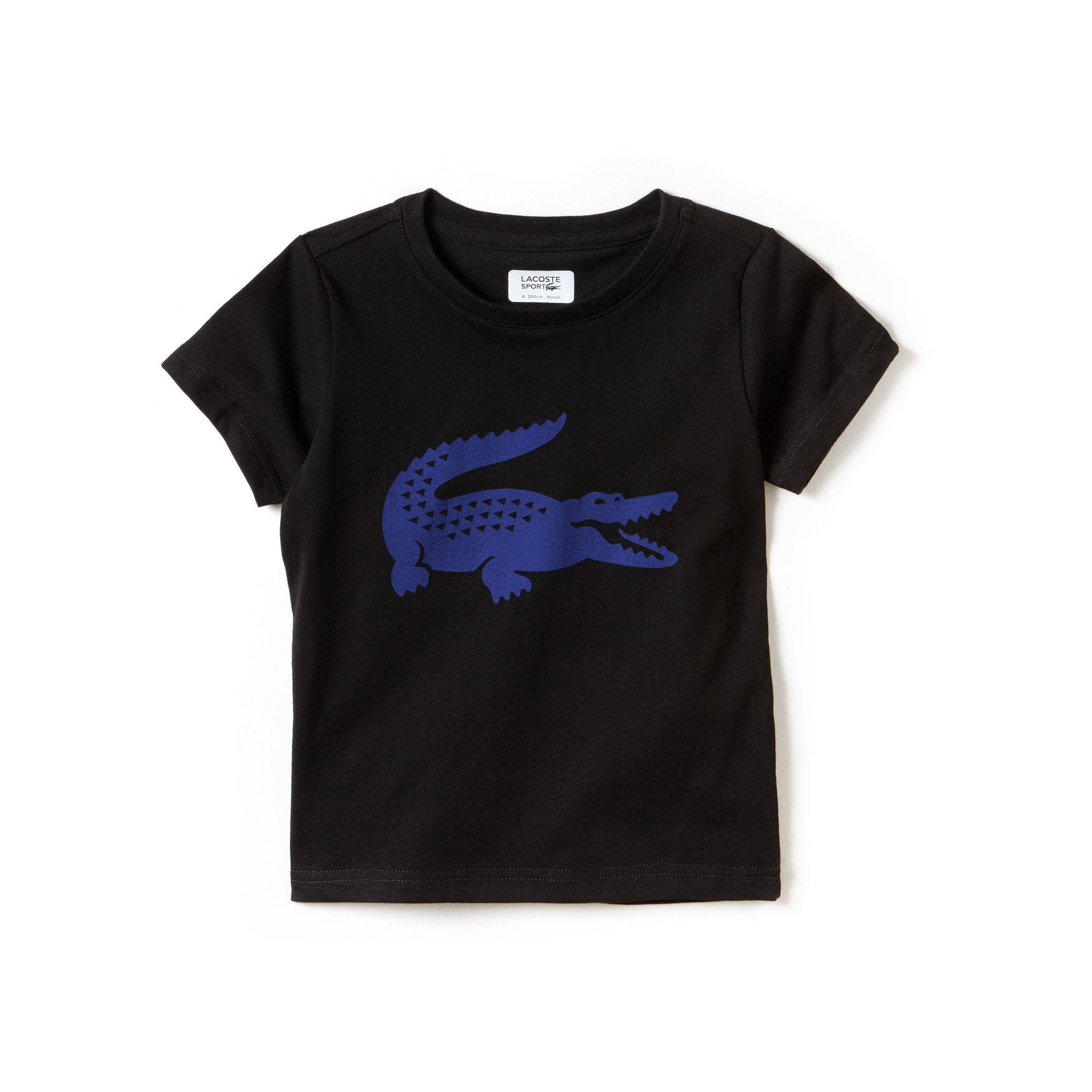 T-shirt Menino Tennis Lacoste SPORT em jersey técnico com crocodilo em tamanho grande