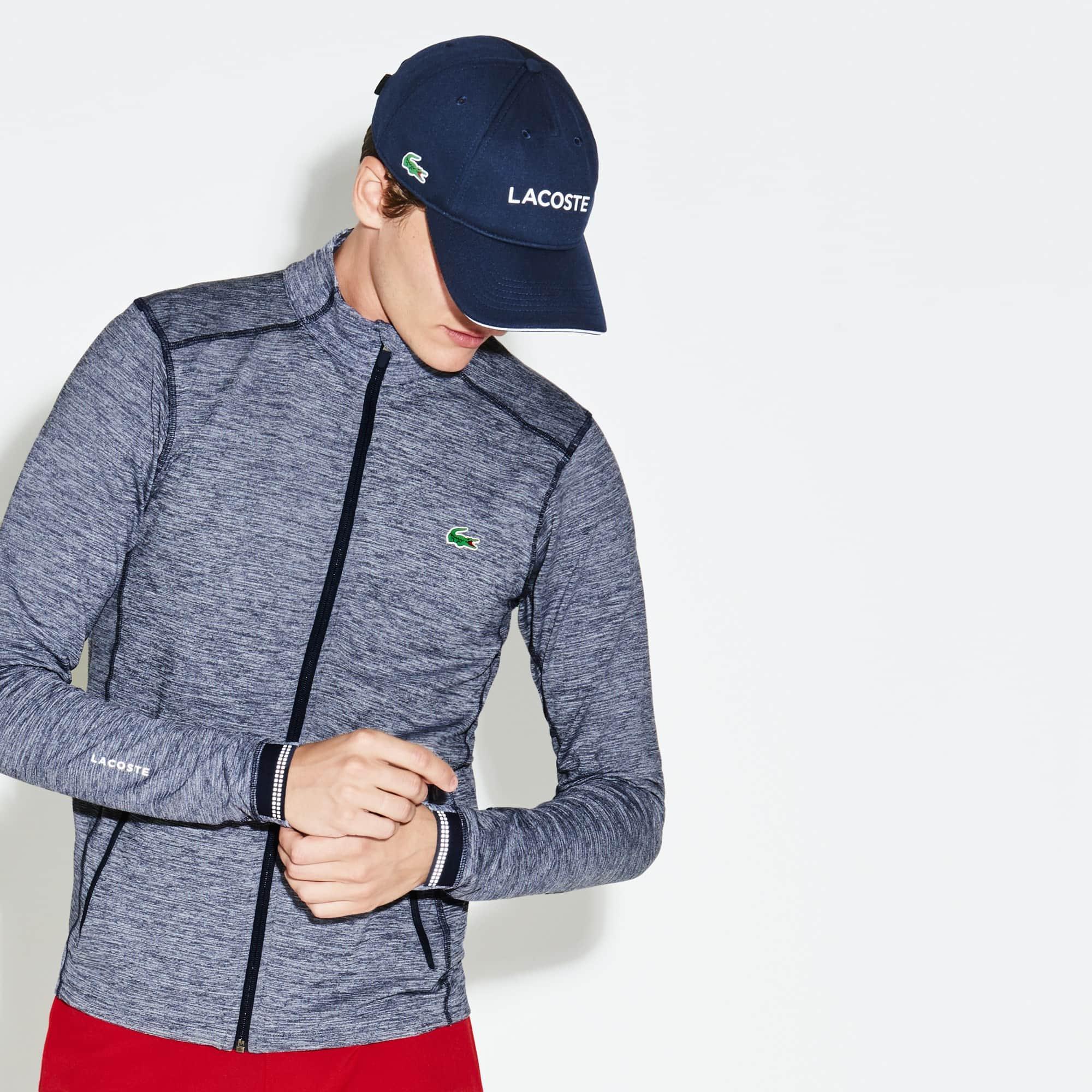Sweatshirt com fecho de correr Golf Lacoste SPORT em camada intermédia técnica efeito mesclado