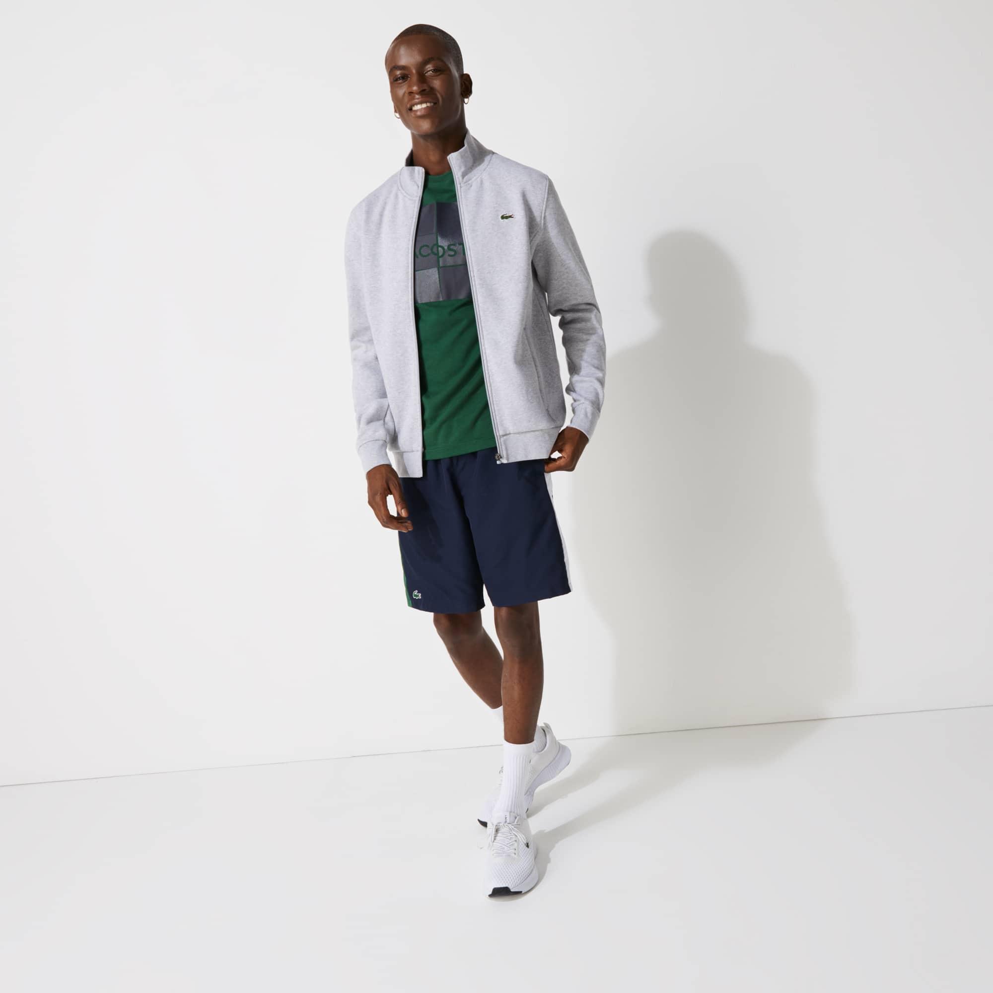 Sweatshirt Tennis Lacoste SPORT com fecho de correr em moletão