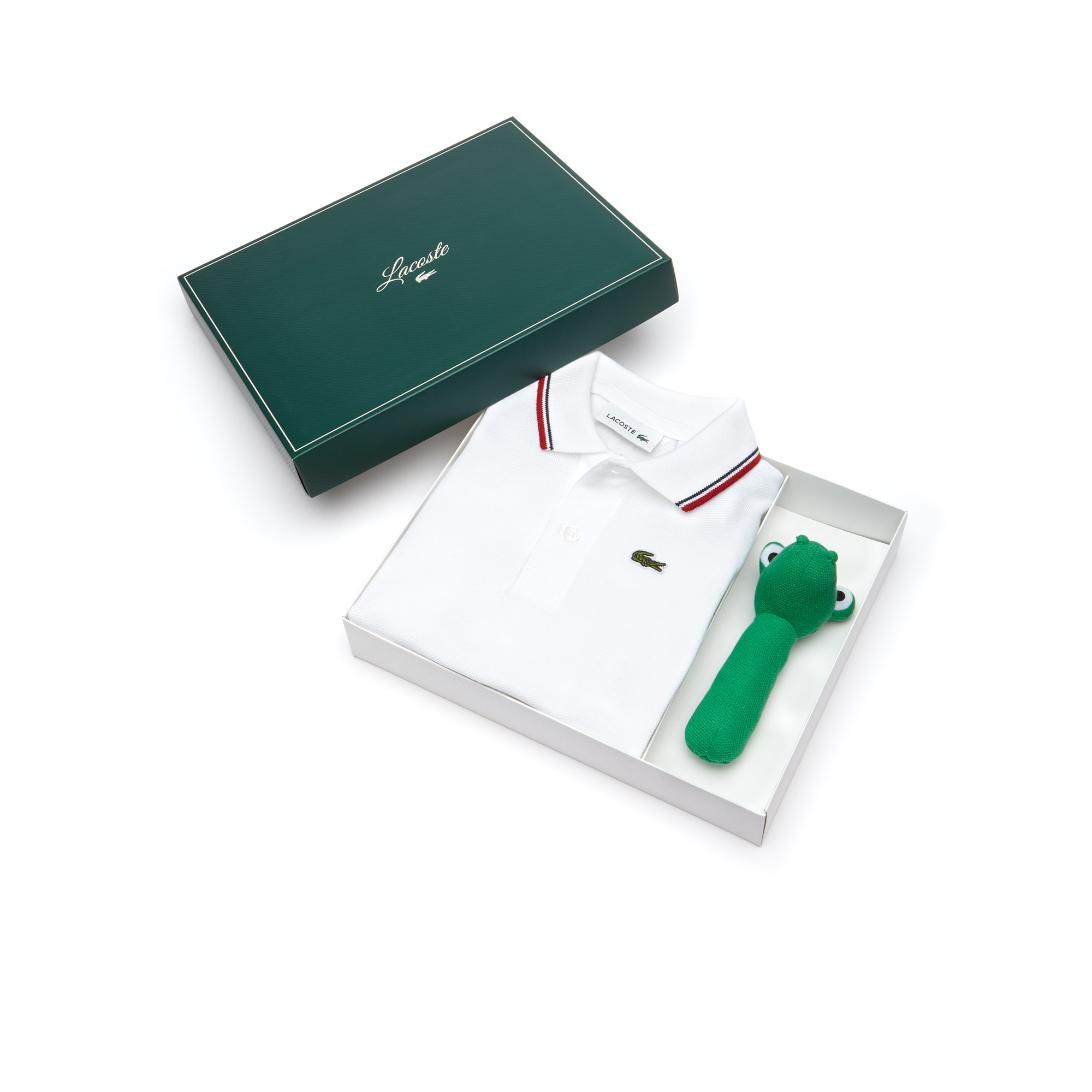 Caixa de presente polo Menino em petit piqué 2 fios unicolor