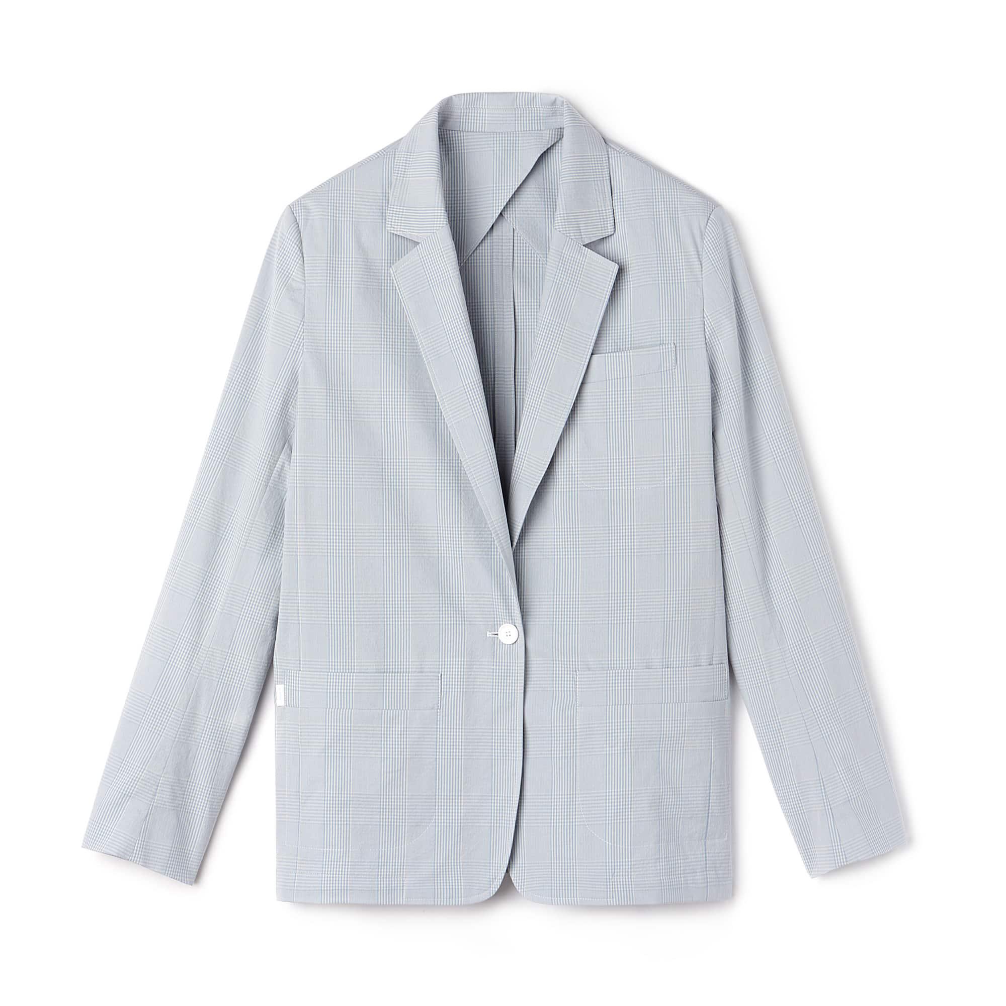 Blazer em seersucker de algodão