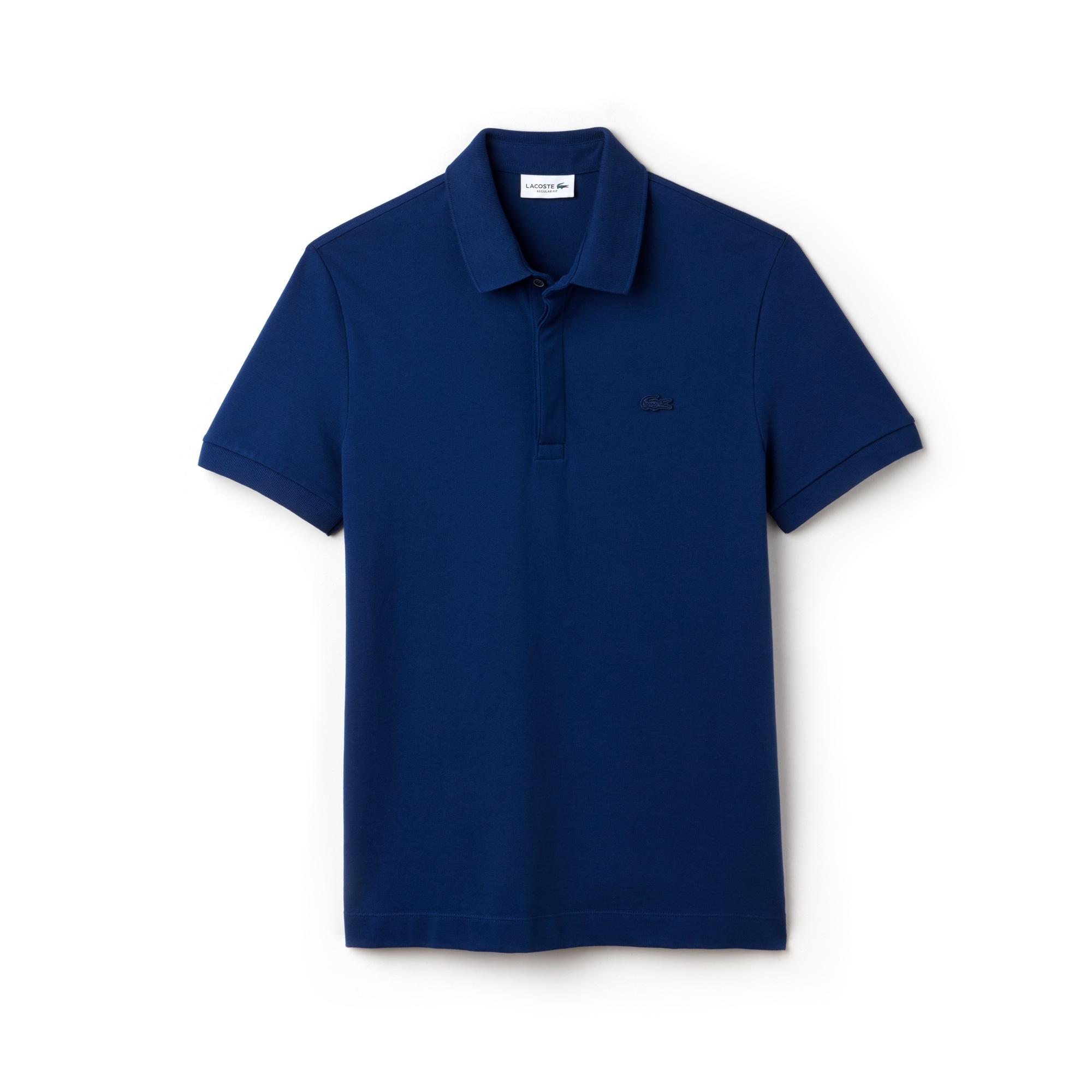 Paris Polo regular fit Lacoste em piqué de algodão stretch