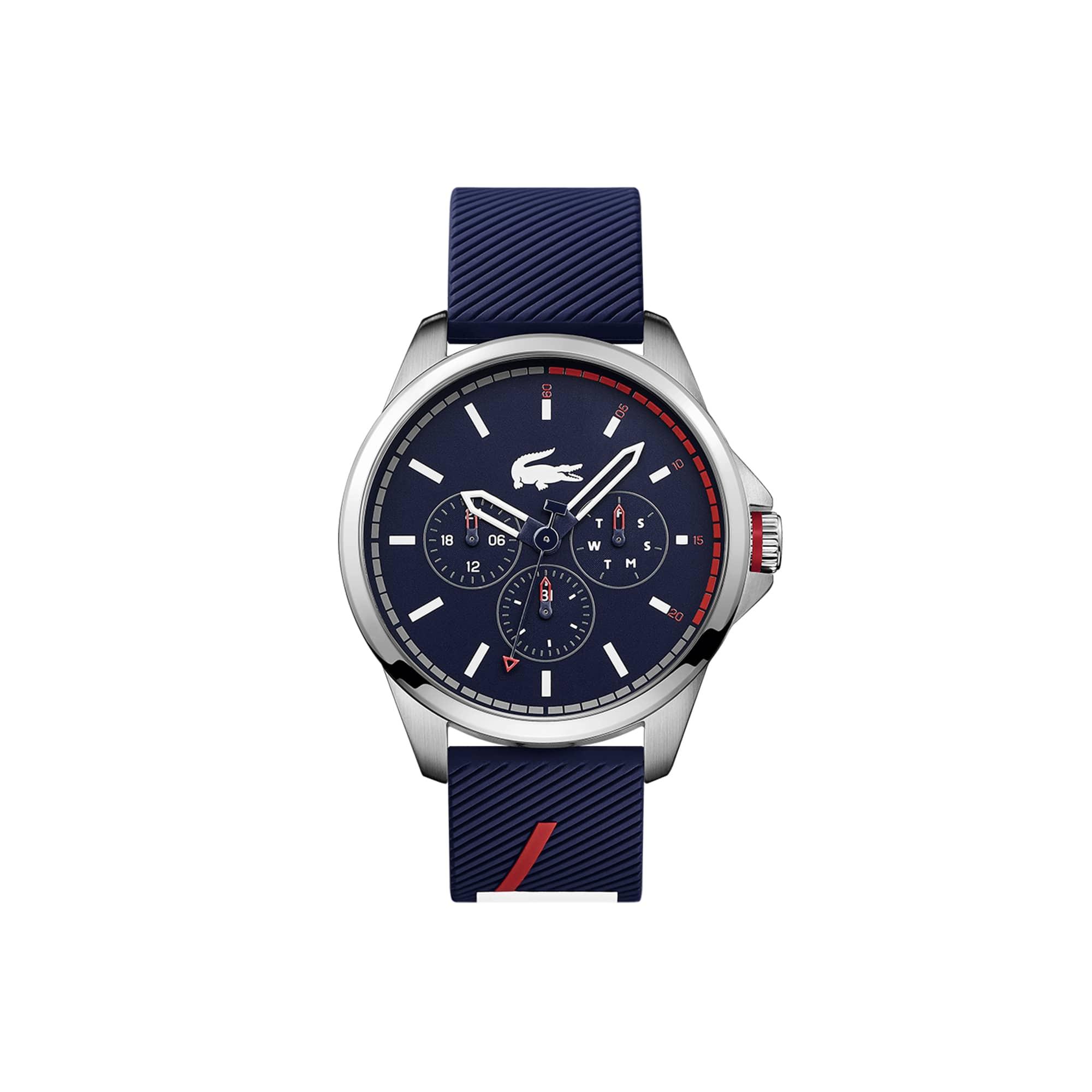 Relógio multifunções Capbreton de homem com bracelete de silicone azul
