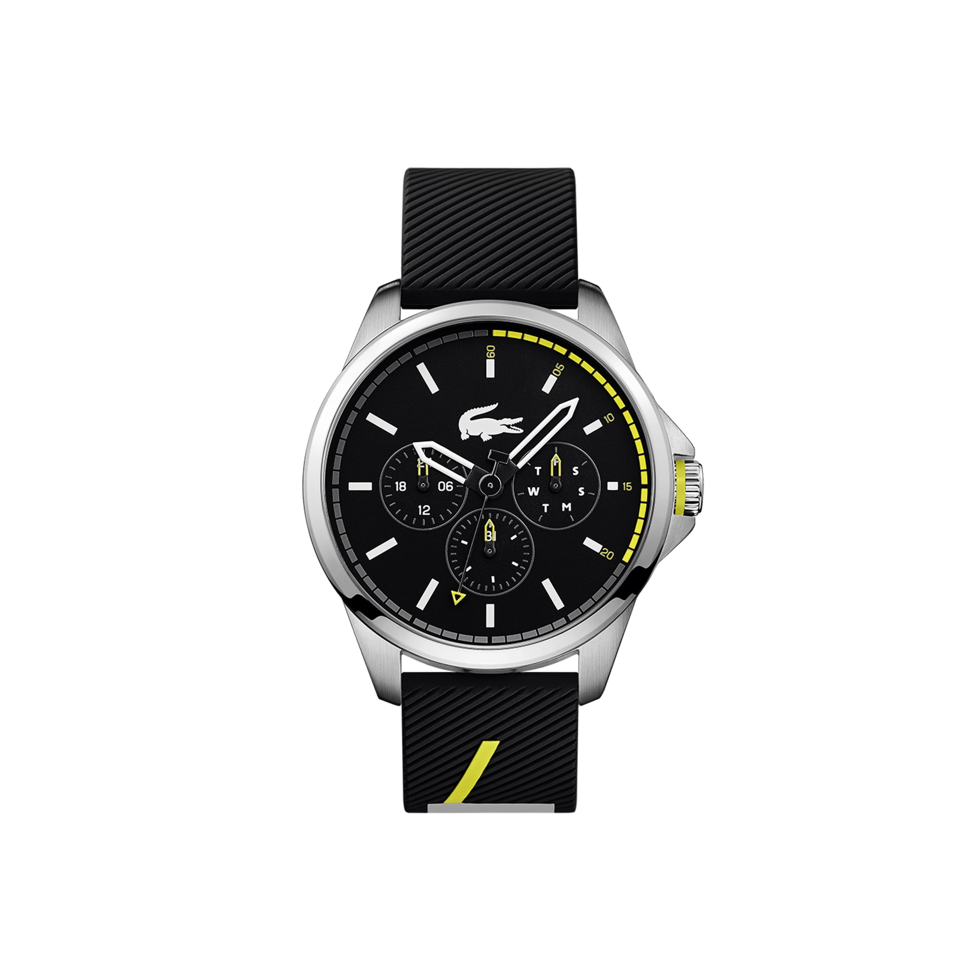 Relógio multifunções Capbreton de homem com bracelete de silicone preta