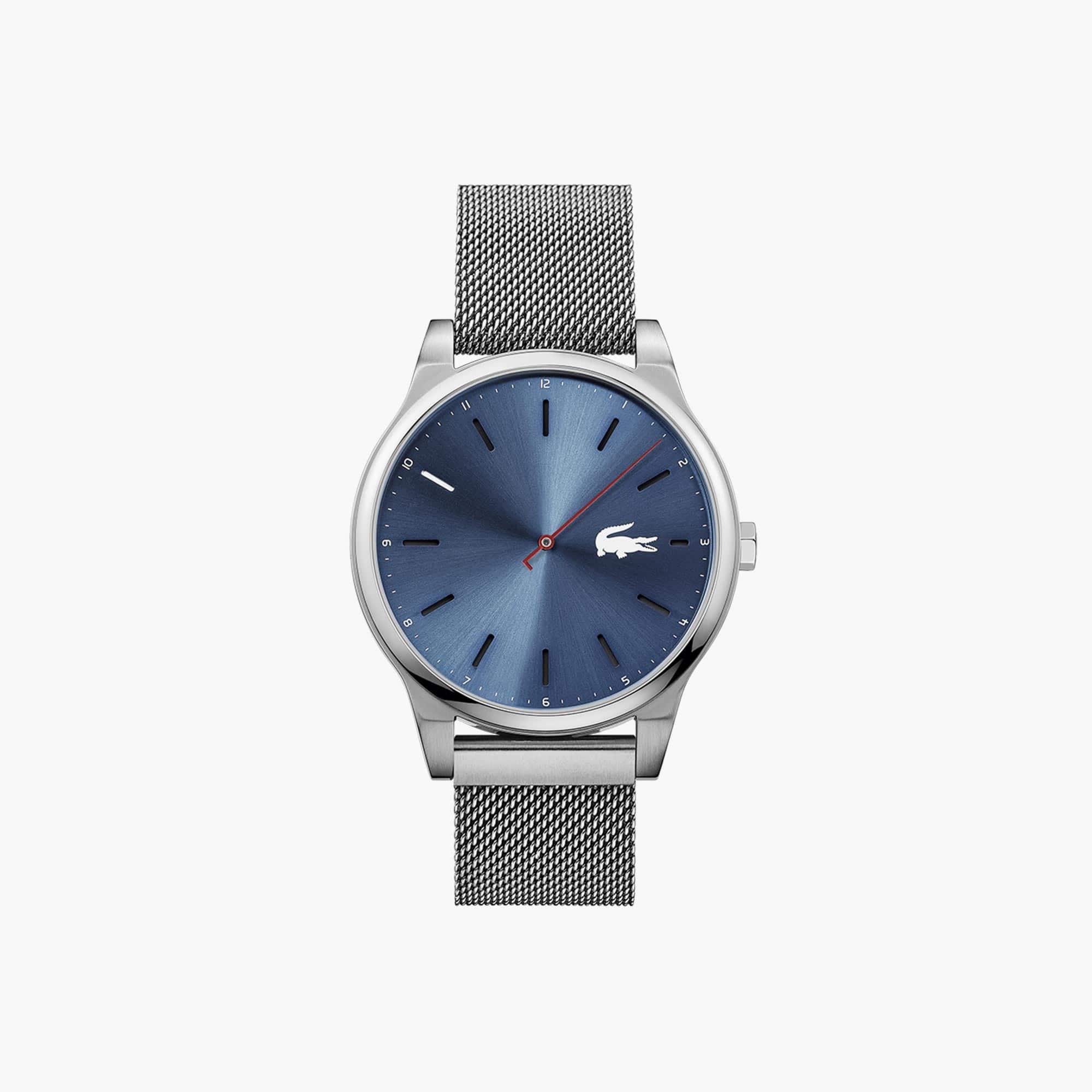 Relógio Kyoto de homem com bracelete de rede em aço inoxidável