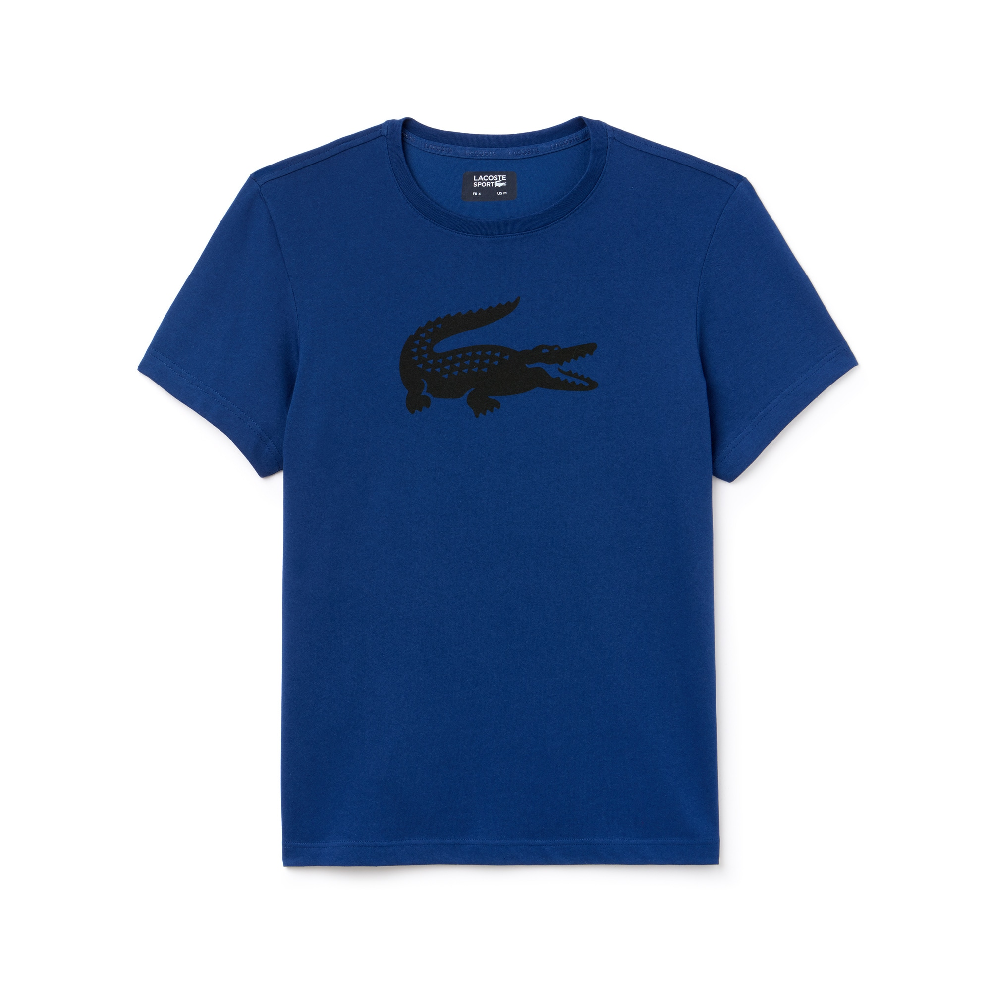 T-shirt Tennis Lacoste SPORT em jersey técnico com crocodilo em tamanho grande