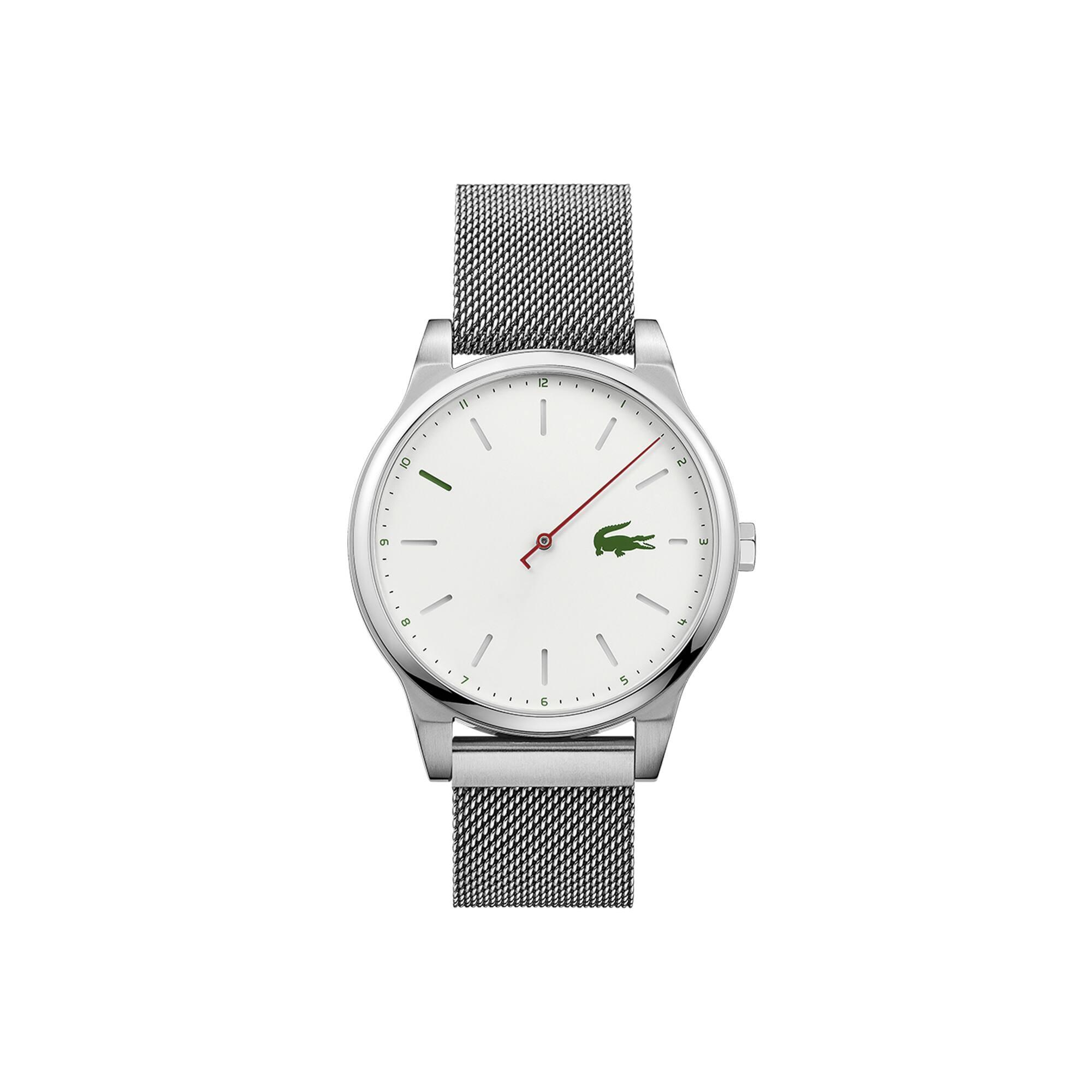 6168b185f0ef4 Relógio Kyoto de homem com bracelete de rede em aço inoxidável