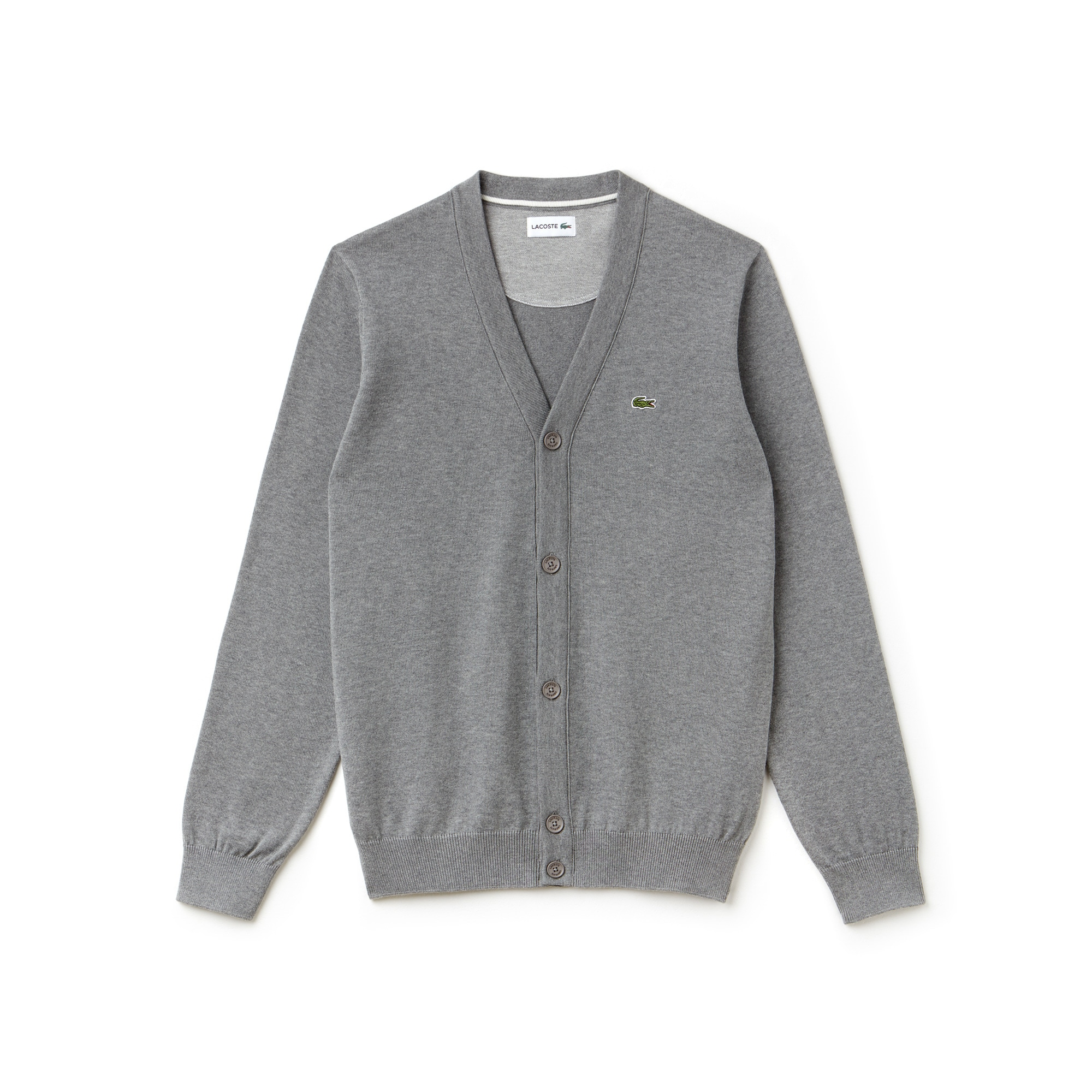 Casaco de malha em jersey de algodão unicolor