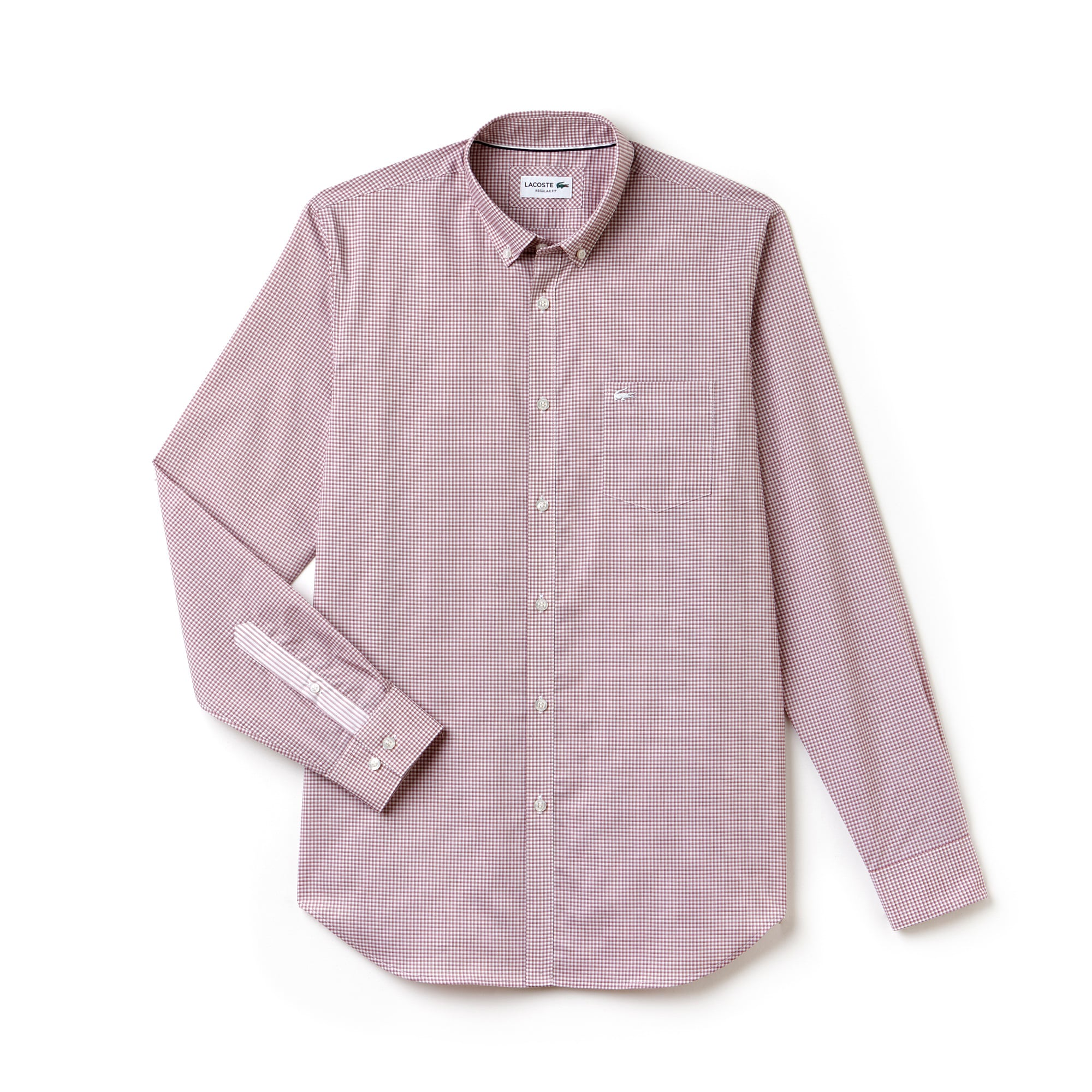 Camisa Regular Fit em popelina aos quadradinhos