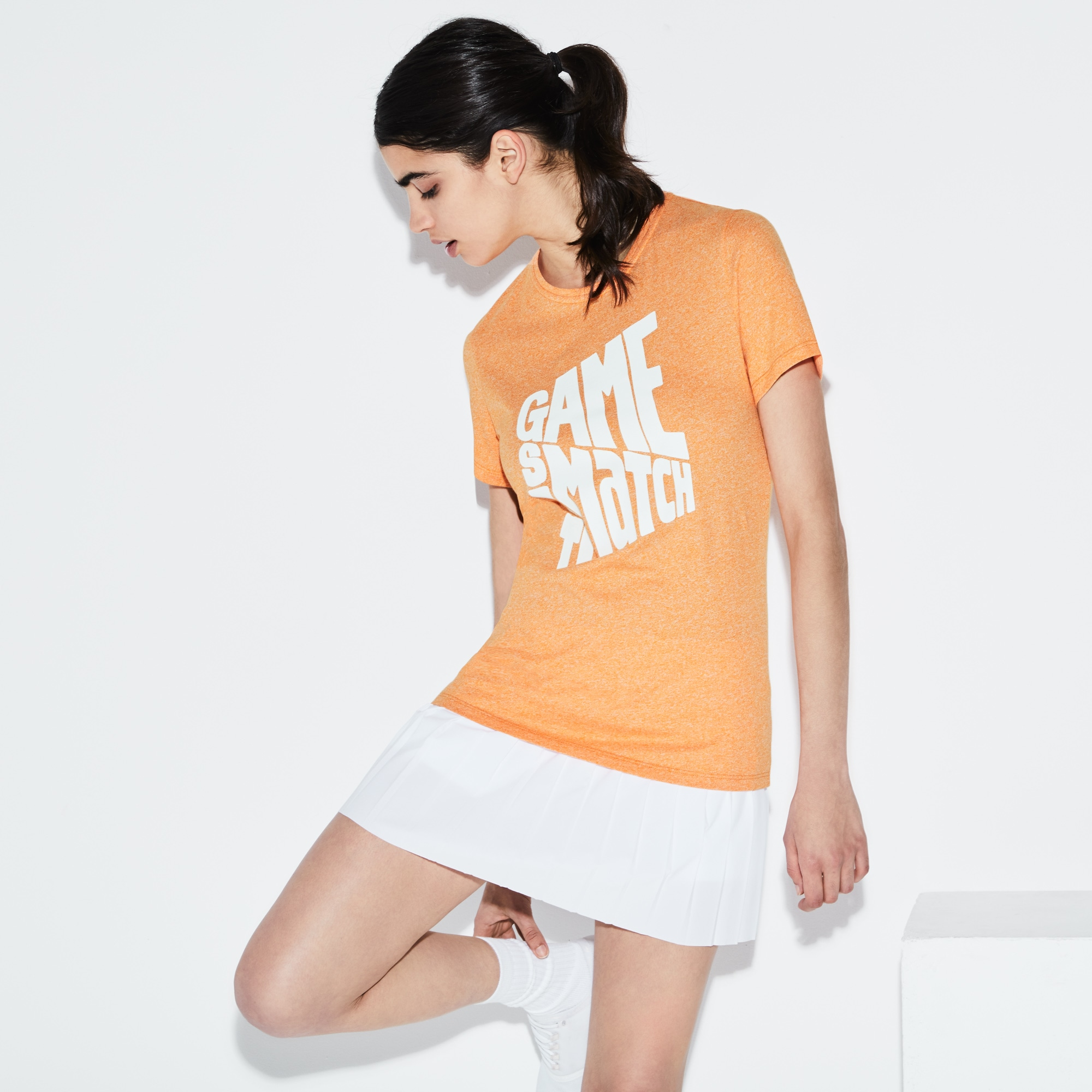 T-shirt Lacoste SPORT em jersey com marcação Edição Roland Garros