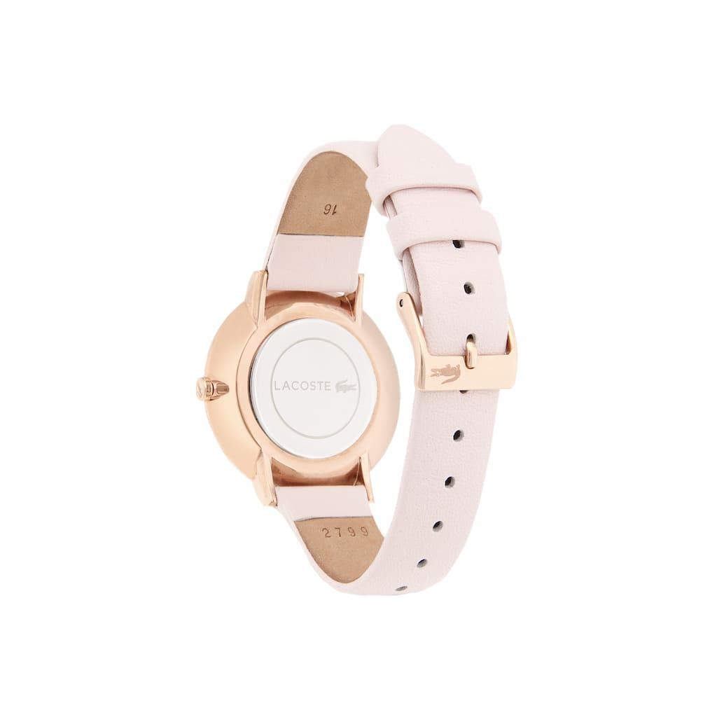 cd48d719ca2 Relógio ultra slim Moon de mulher com bracelete de pele rosa