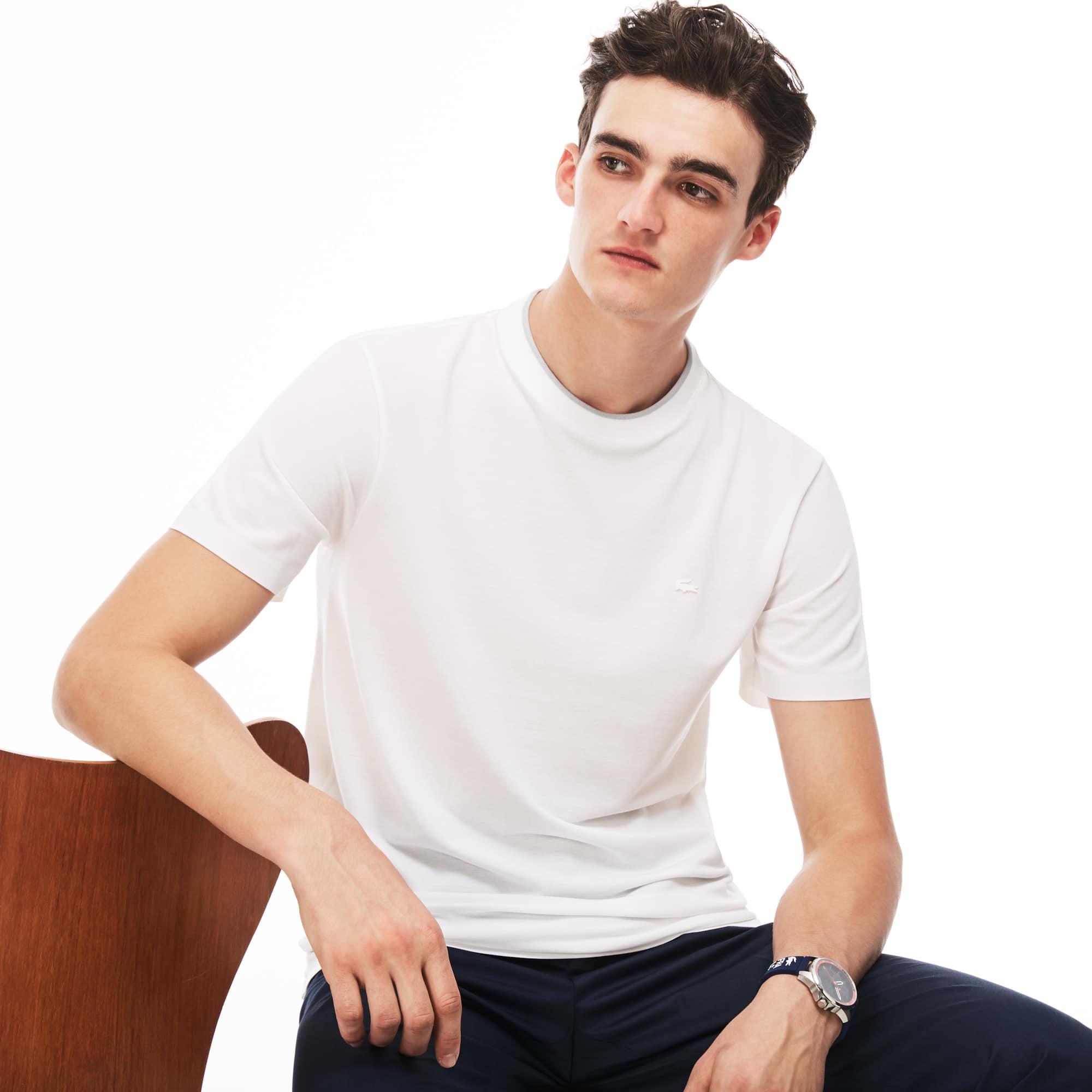 T-shirt decote redondo Lacoste MOTION em piqué de algodão Pima unicolor