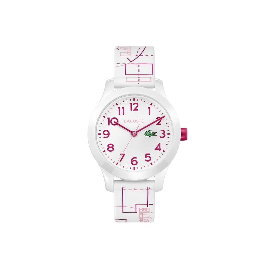 ae3d3e3386d01 Relógio Lacoste 12.12 de criança com bracelete de silicone branca ...