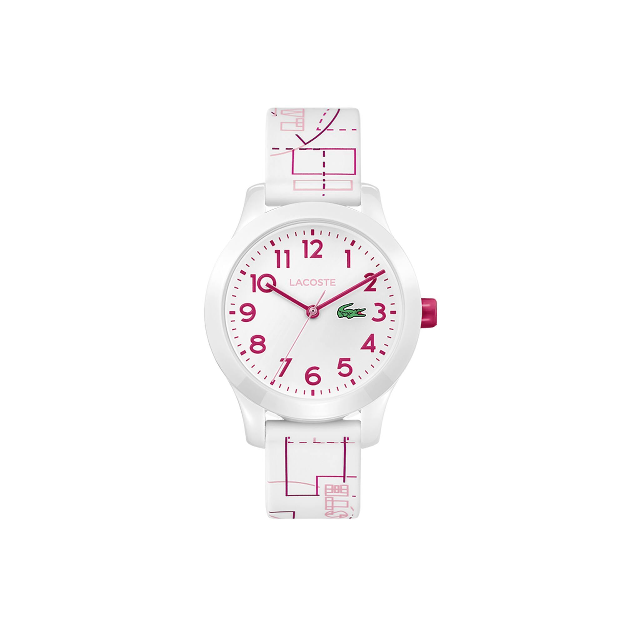 Relógio Lacoste 12.12 de criança com bracelete de silicone branca