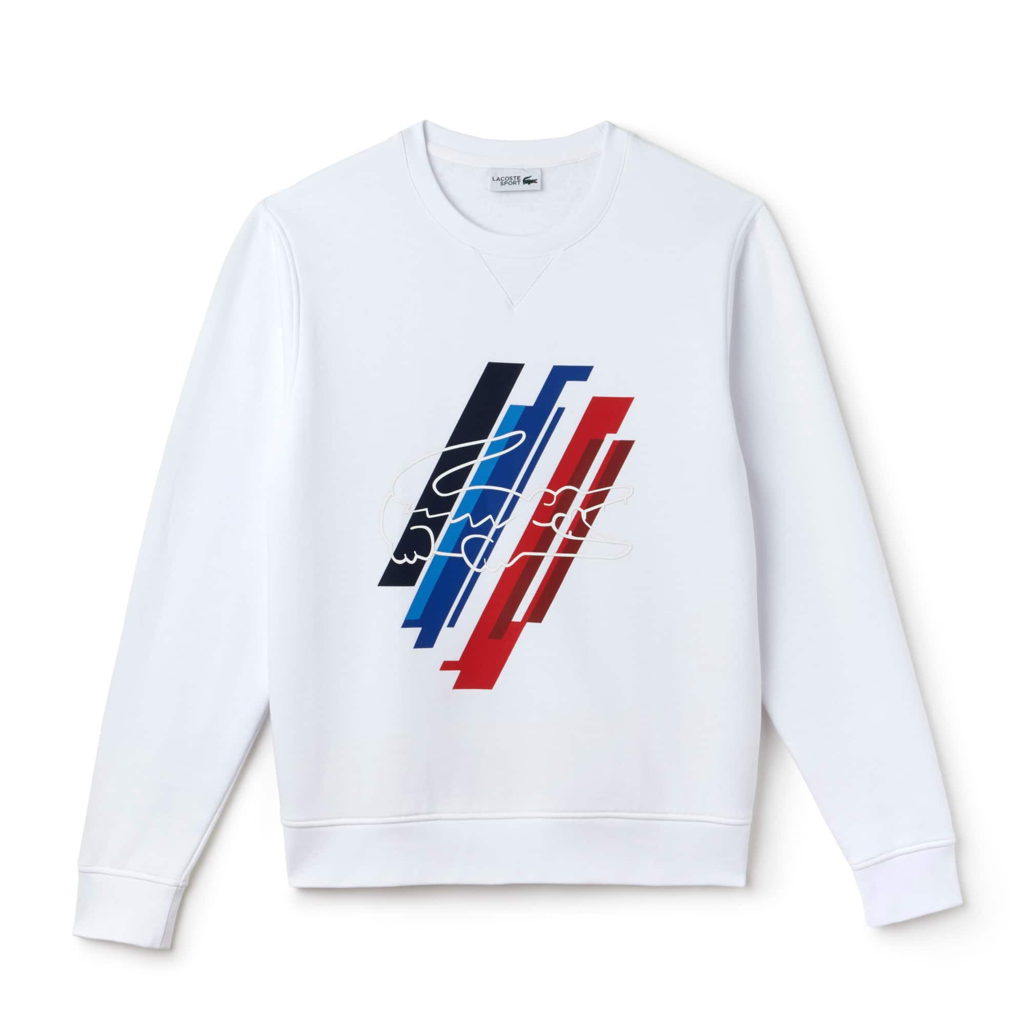 Sweatshirt Lacoste SPORT em moletão com impressão Edição French Sporting Spirit