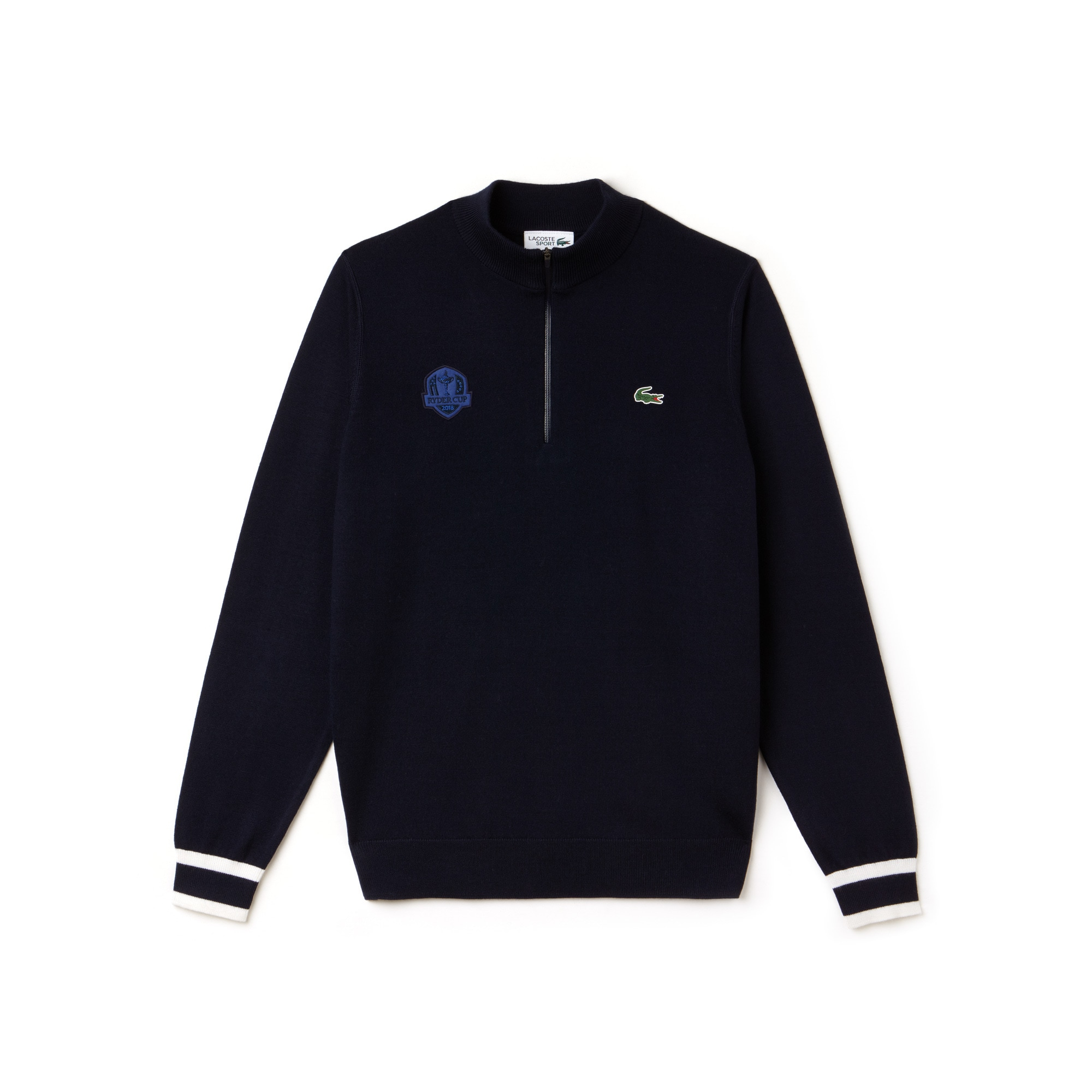 Sweatshirt com gola com fecho de correr Golf Lacoste SPORT em jersey Edição Ryder Cup
