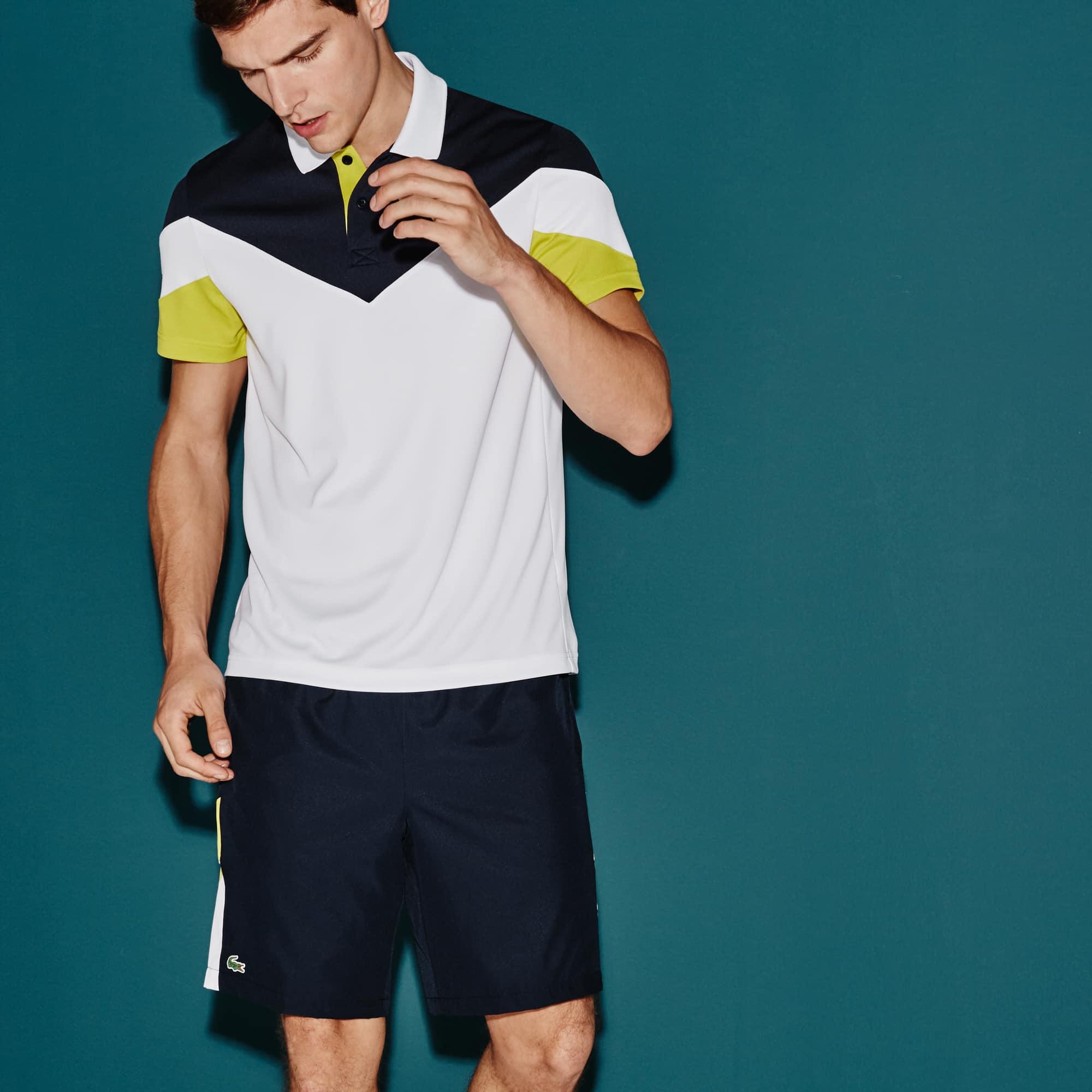 Polo Tennis Lacoste SPORT em piqué técnico color block