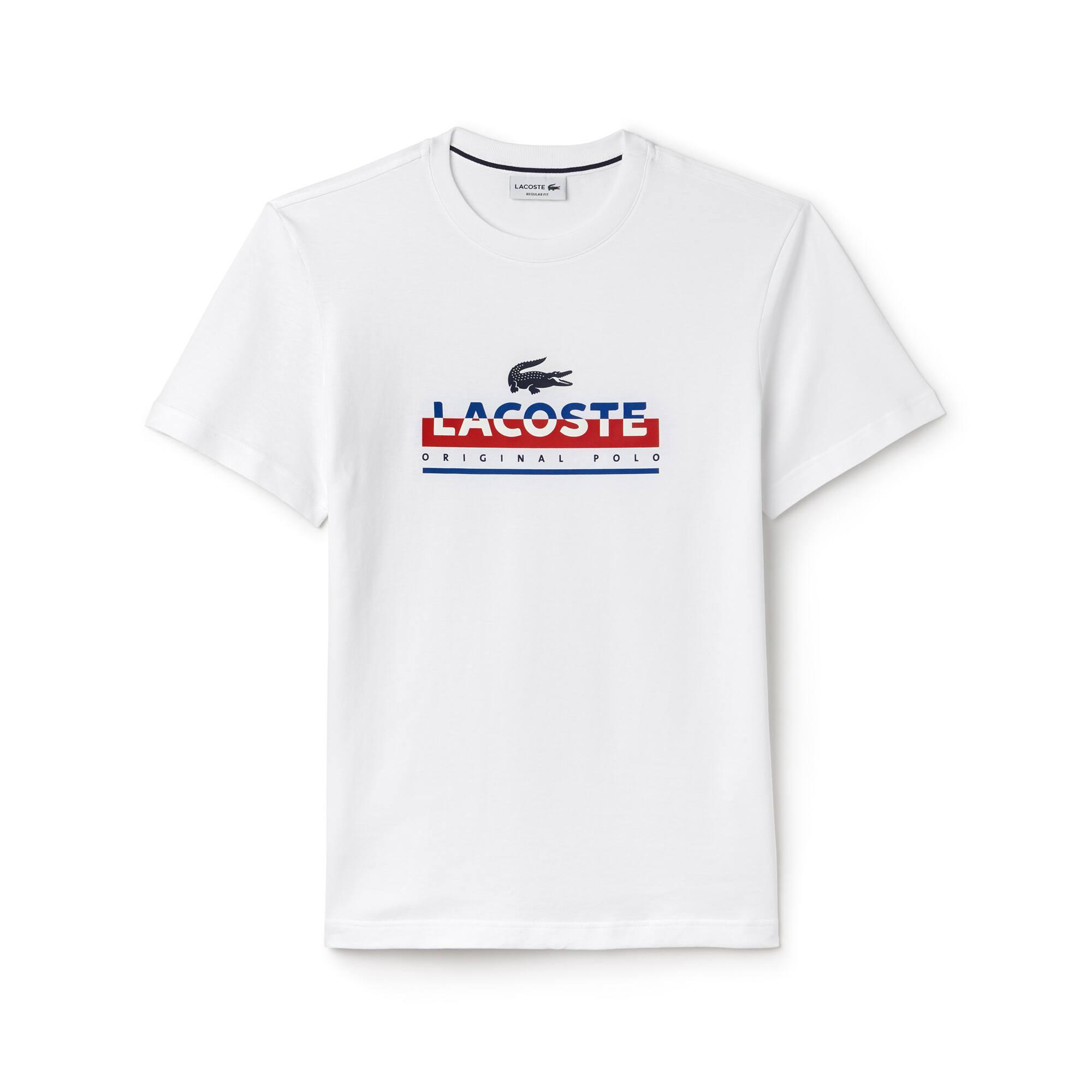 T-shirt decote redondo em jersey com inscrição impressa