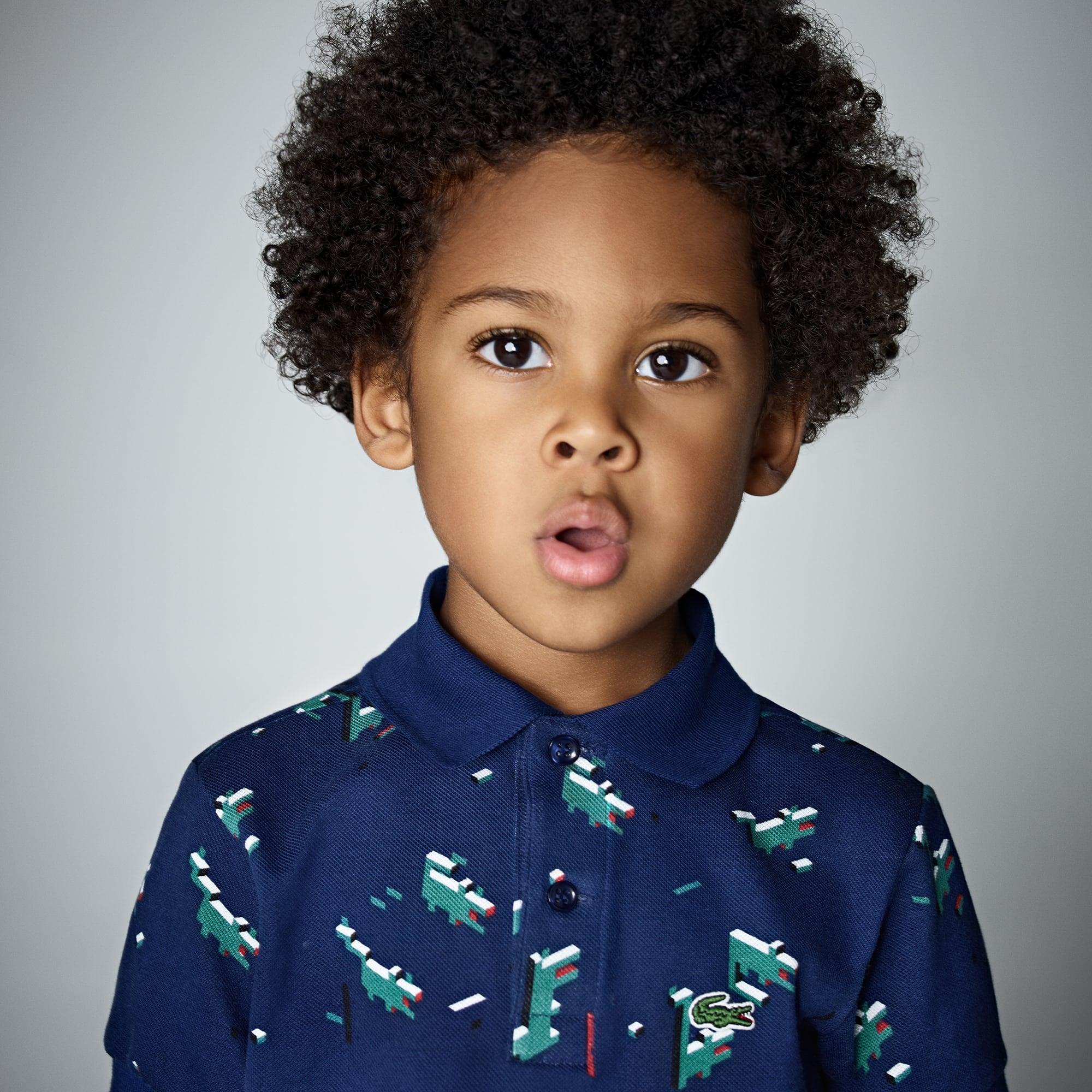 Polo Menino Lacoste em mini piqué impressão Edition Little Boy