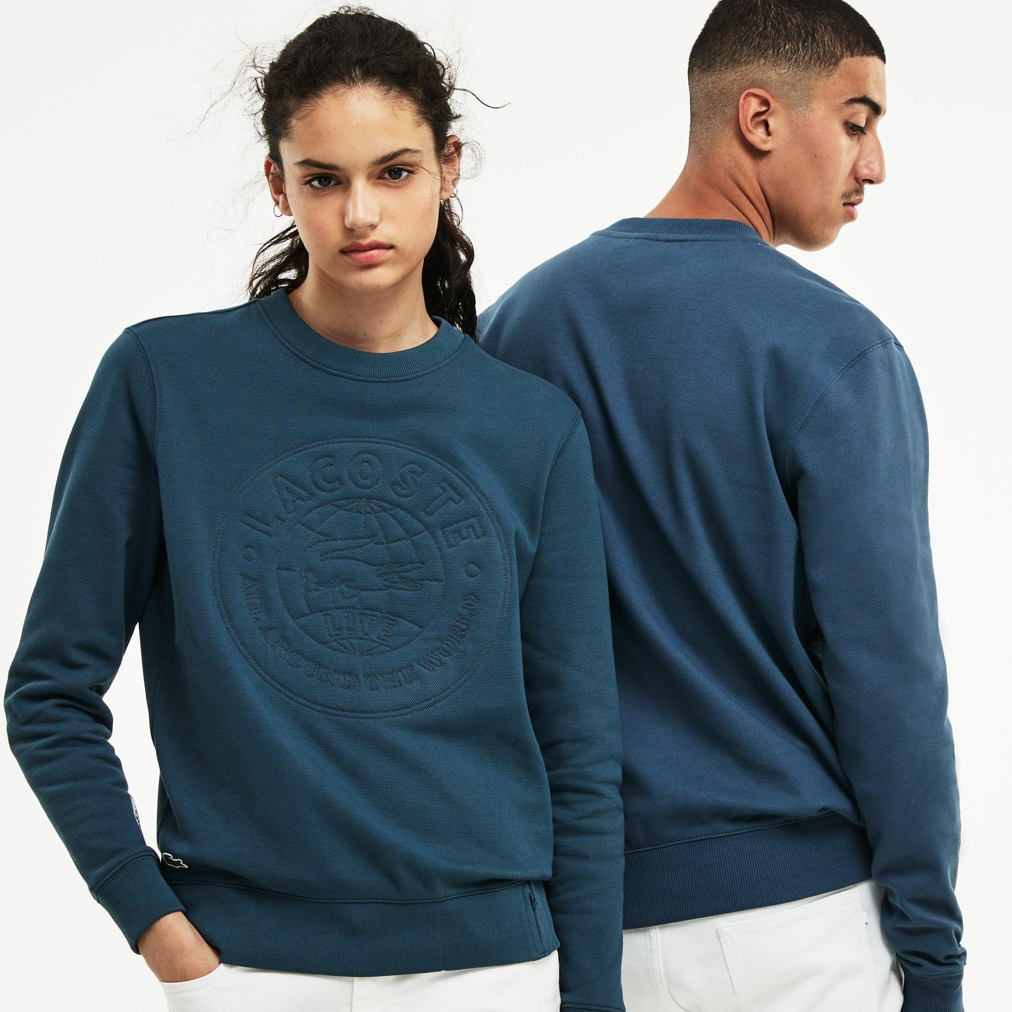 Sweatshirt unissexo Lacoste LIVE em algodão com marcação no logótipo