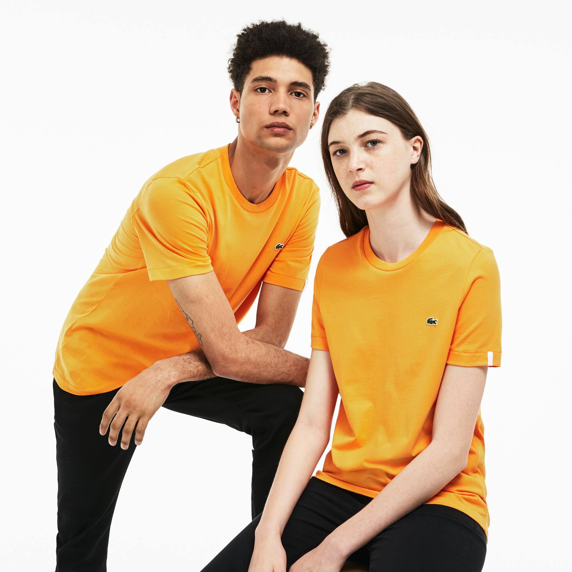 T-shirt decote redondo unissexo Lacoste LIVE em jersey de algodão unicolor