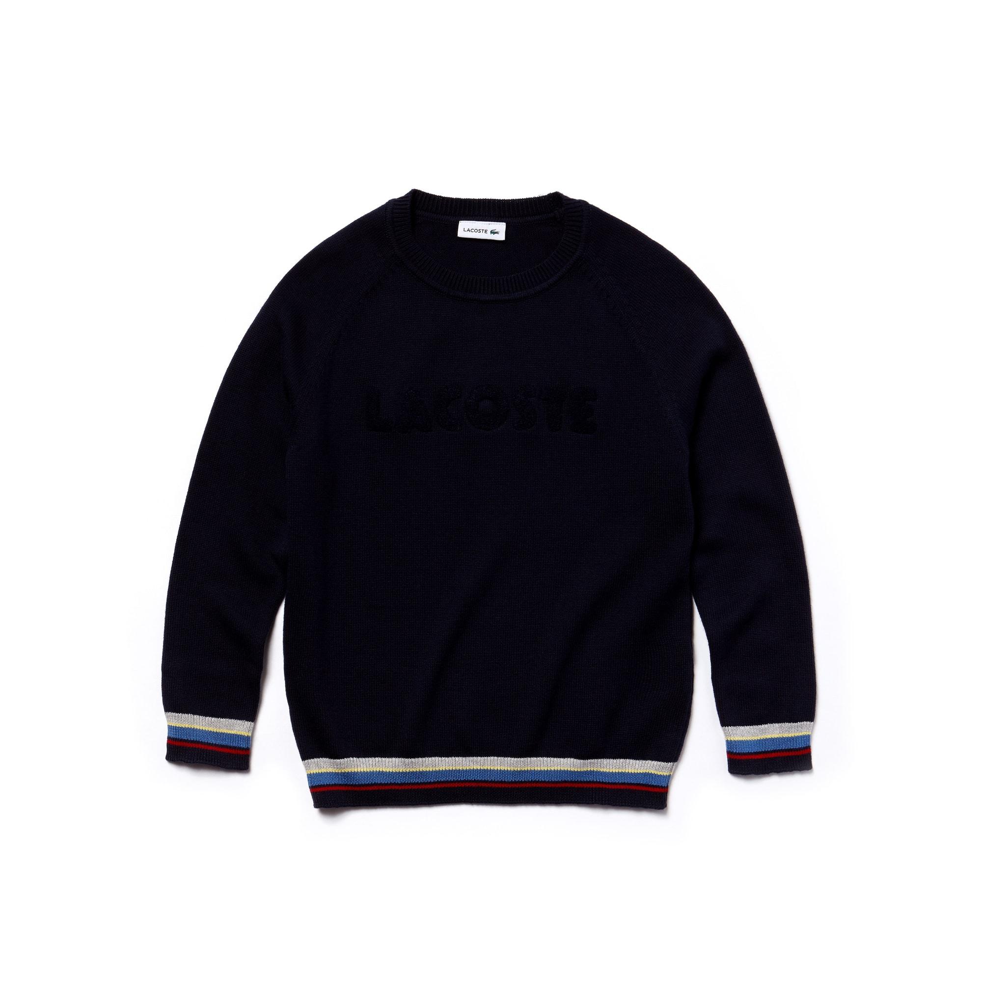 Camisola decote redondo Menino em jersey com marcação LACOSTE