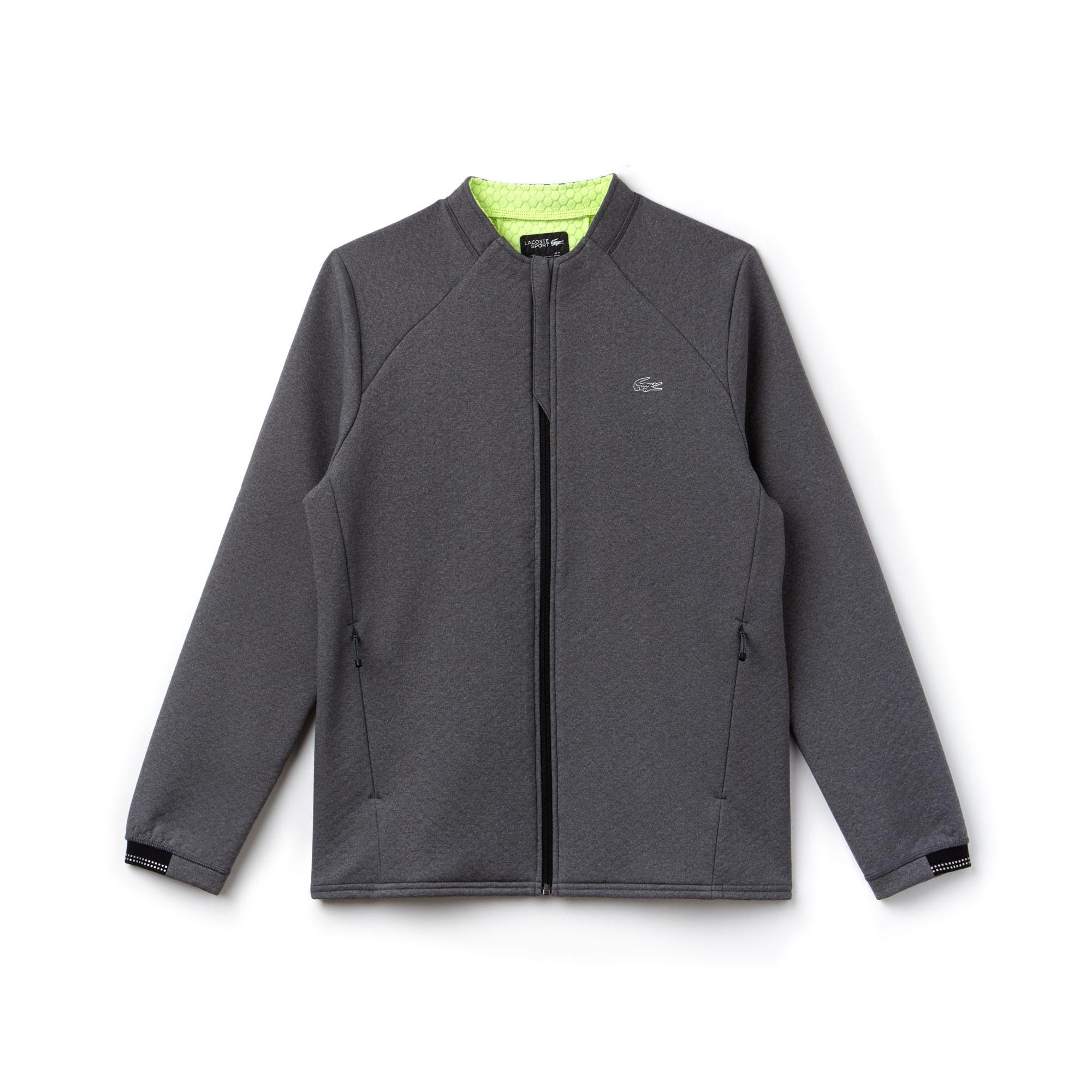 Sweatshirt com fecho de correr Tennis Lacoste SPORT em camada intermédia polar unicolor