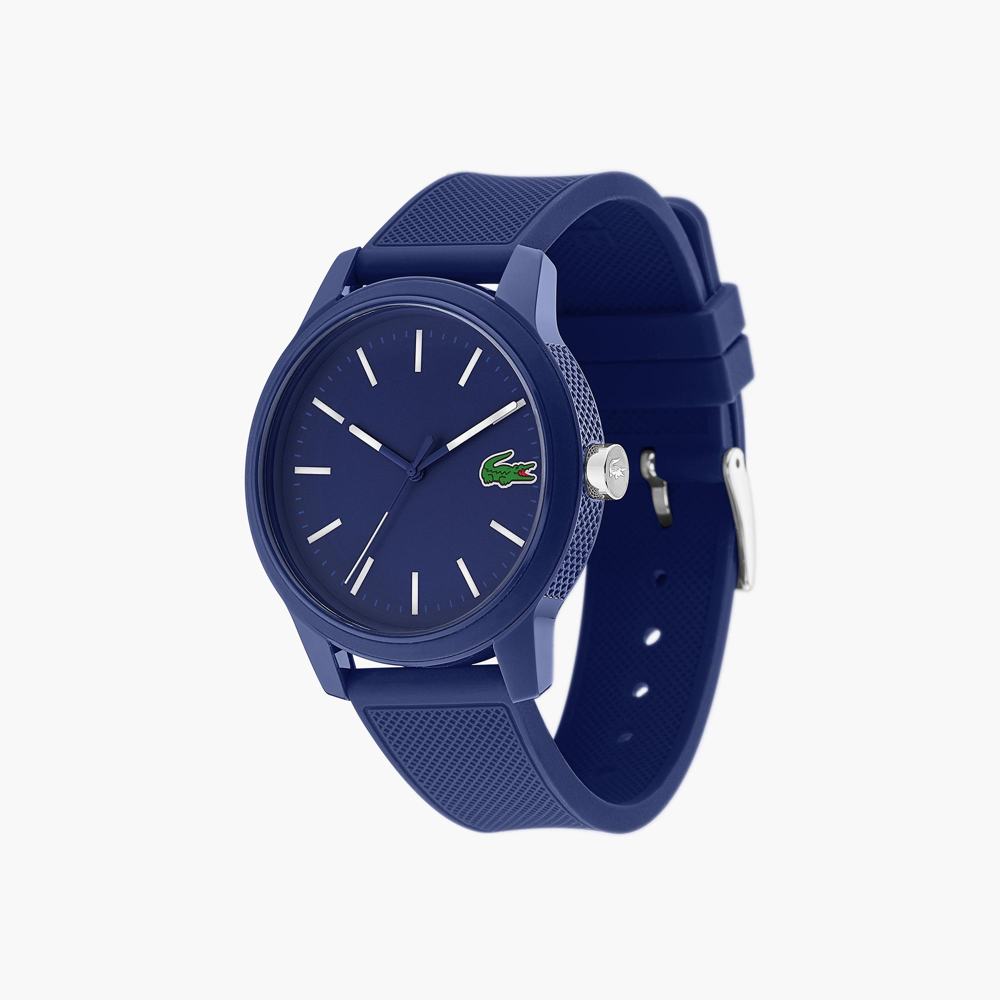 Relógio Lacoste 12.12 de homem com bracelete de silicone azul