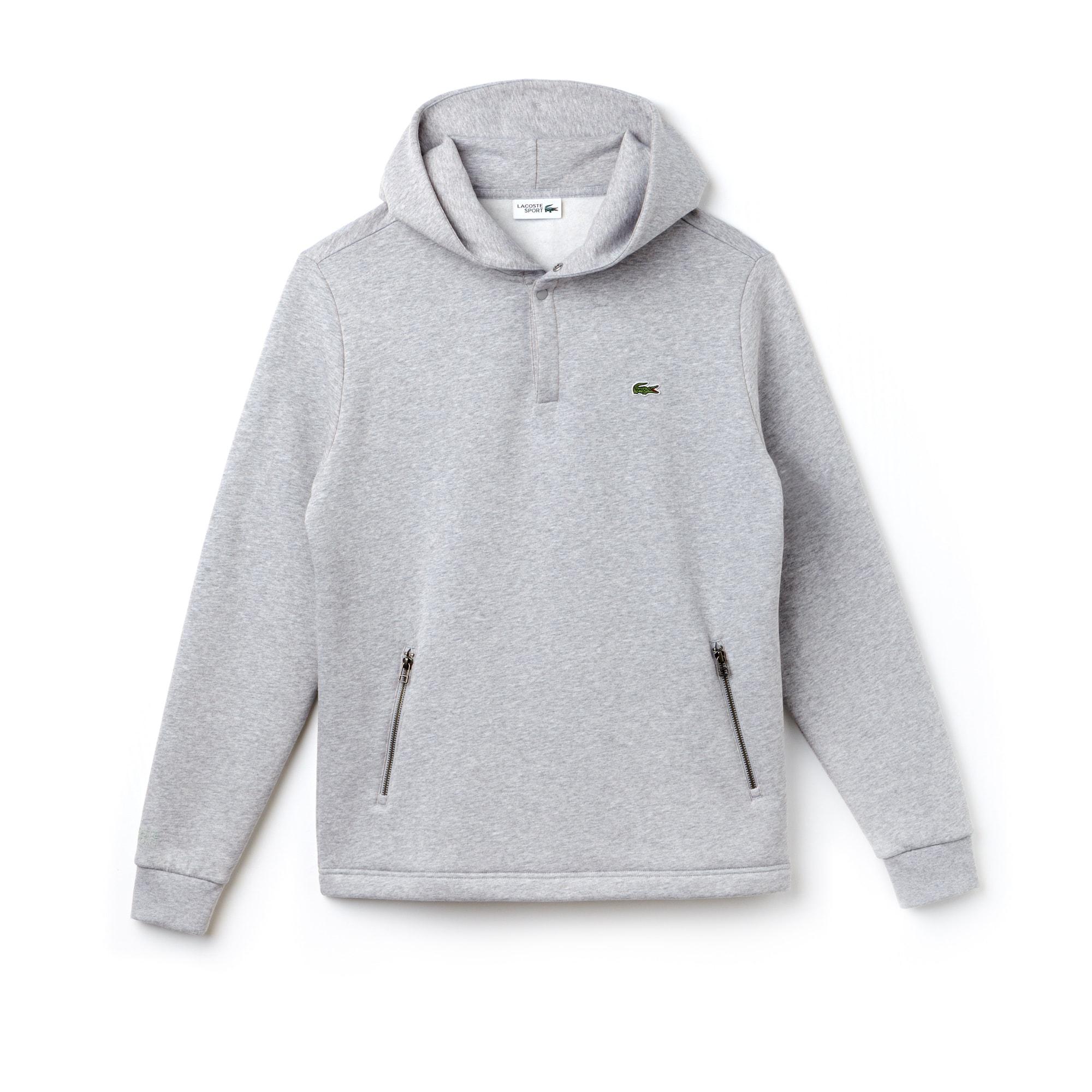 Sweatshirt com capuz Tennis Lacoste SPORT em moletão unicolor