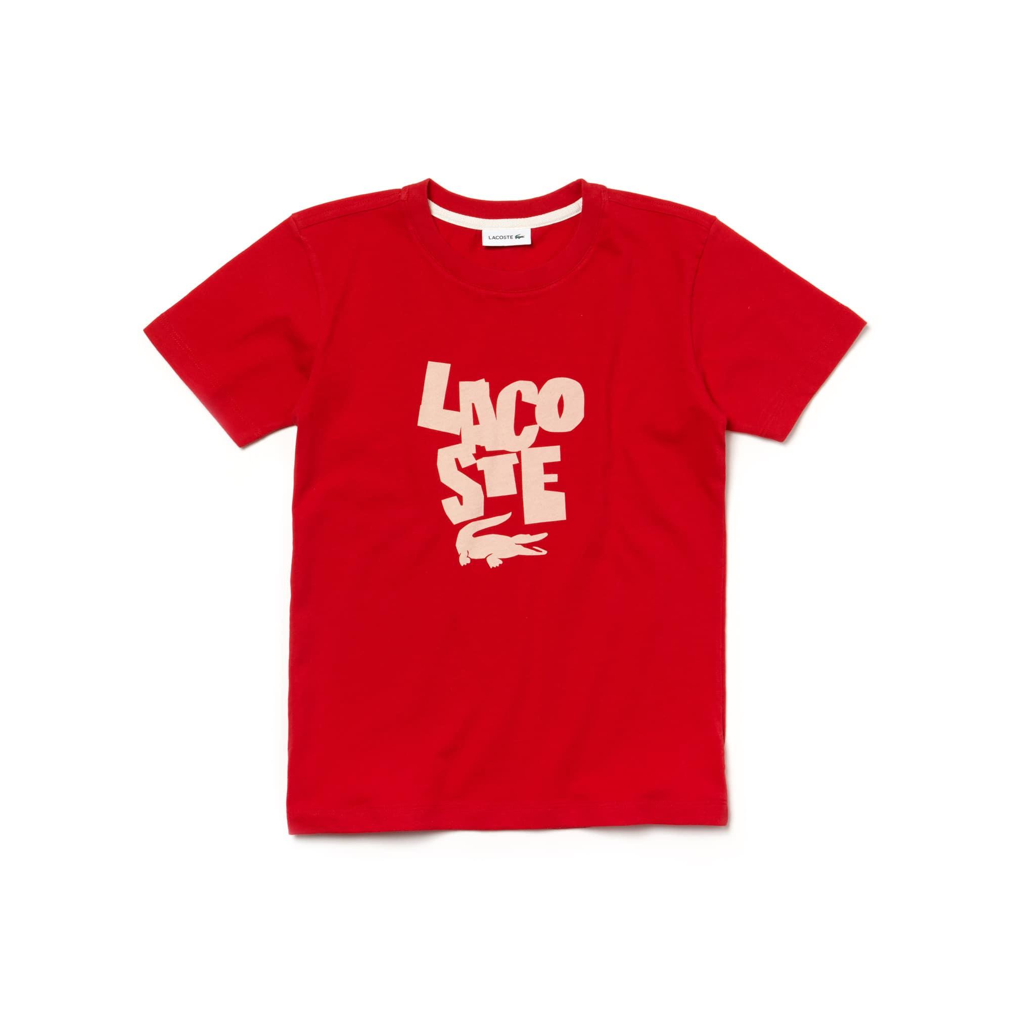 T-shirt decote redondo Menino em jersey com marcação Lacoste