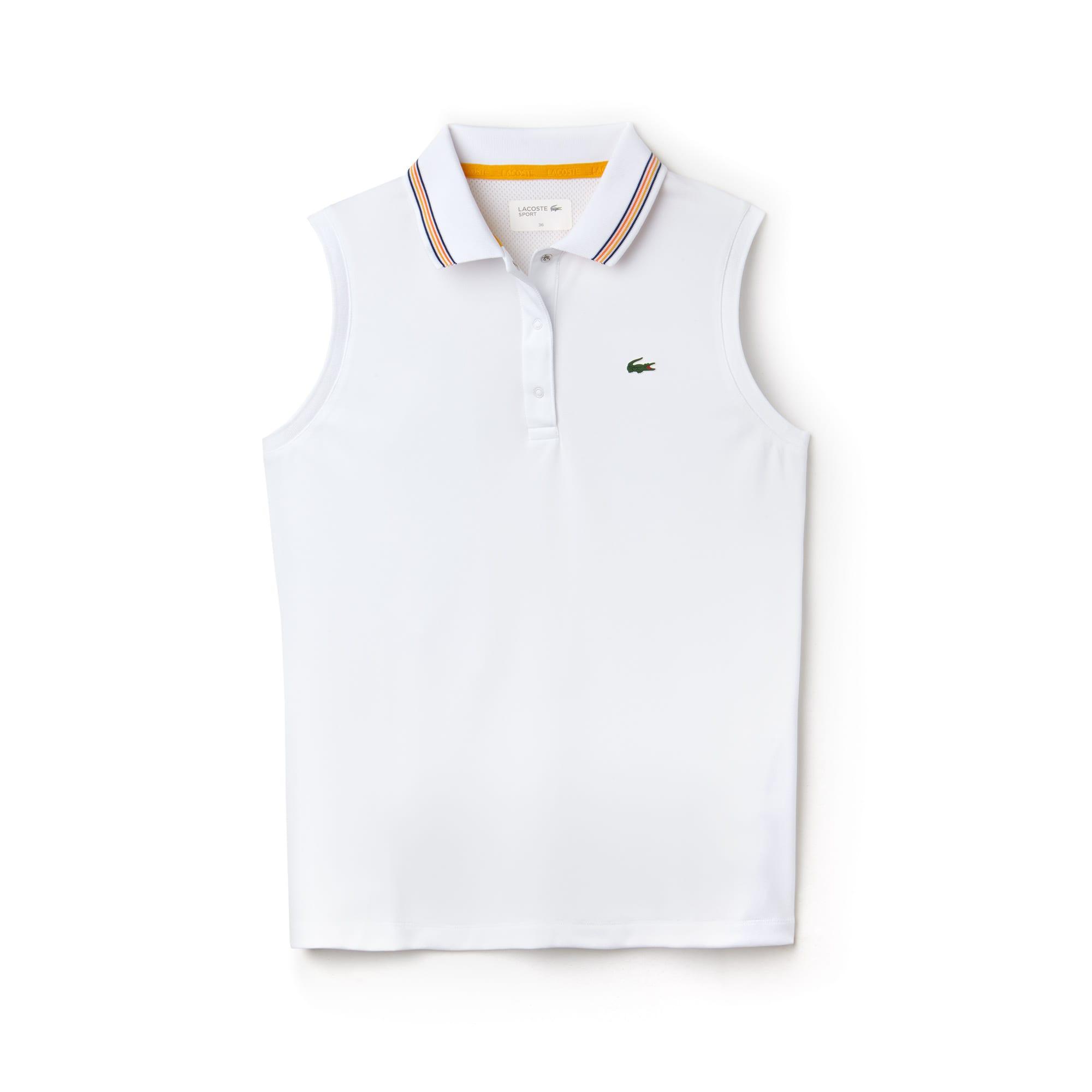 Polo sem mangas Tennis Lacoste SPORT em jersey e piqué técnicos