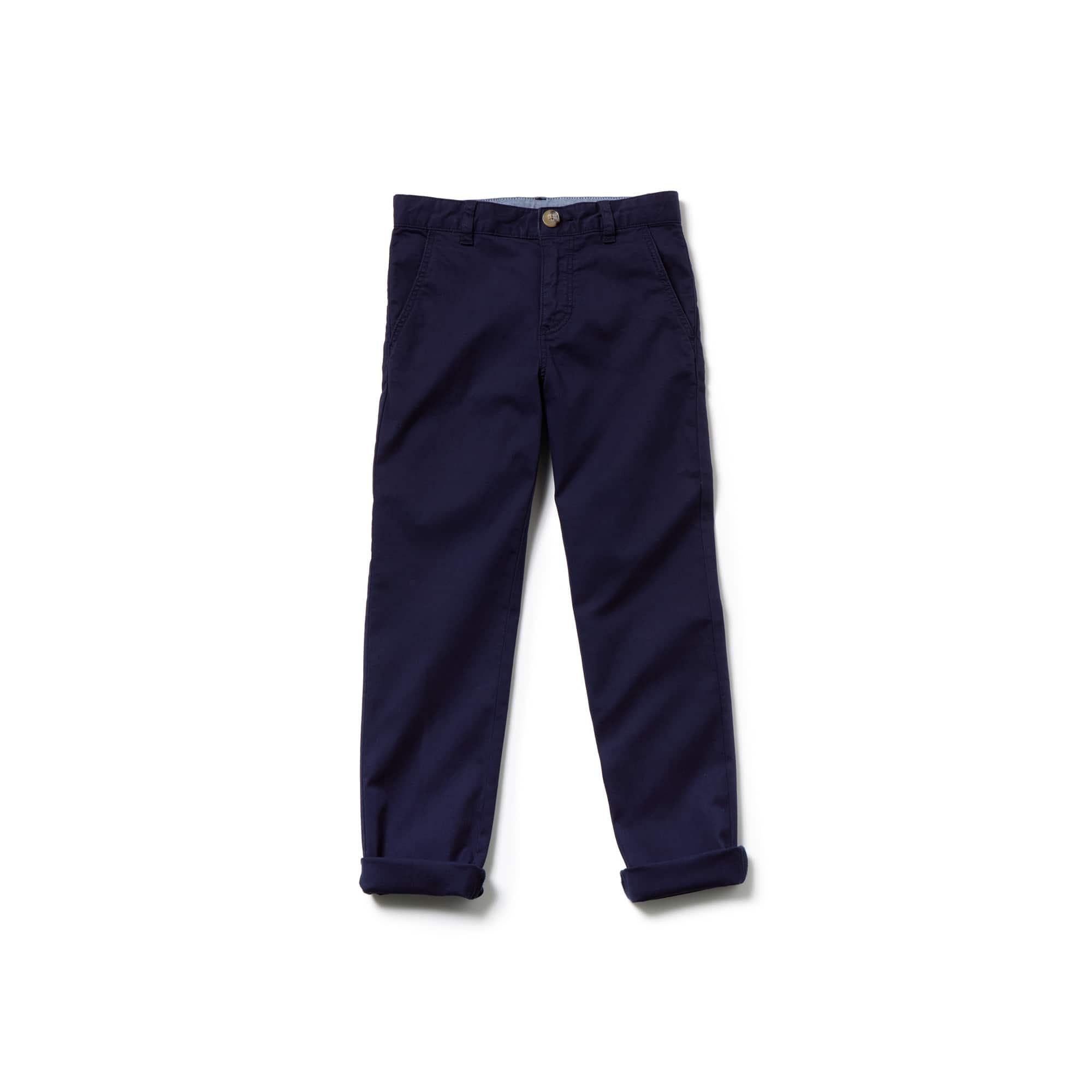 Calças chino Criança em gabardina de algodão colorido