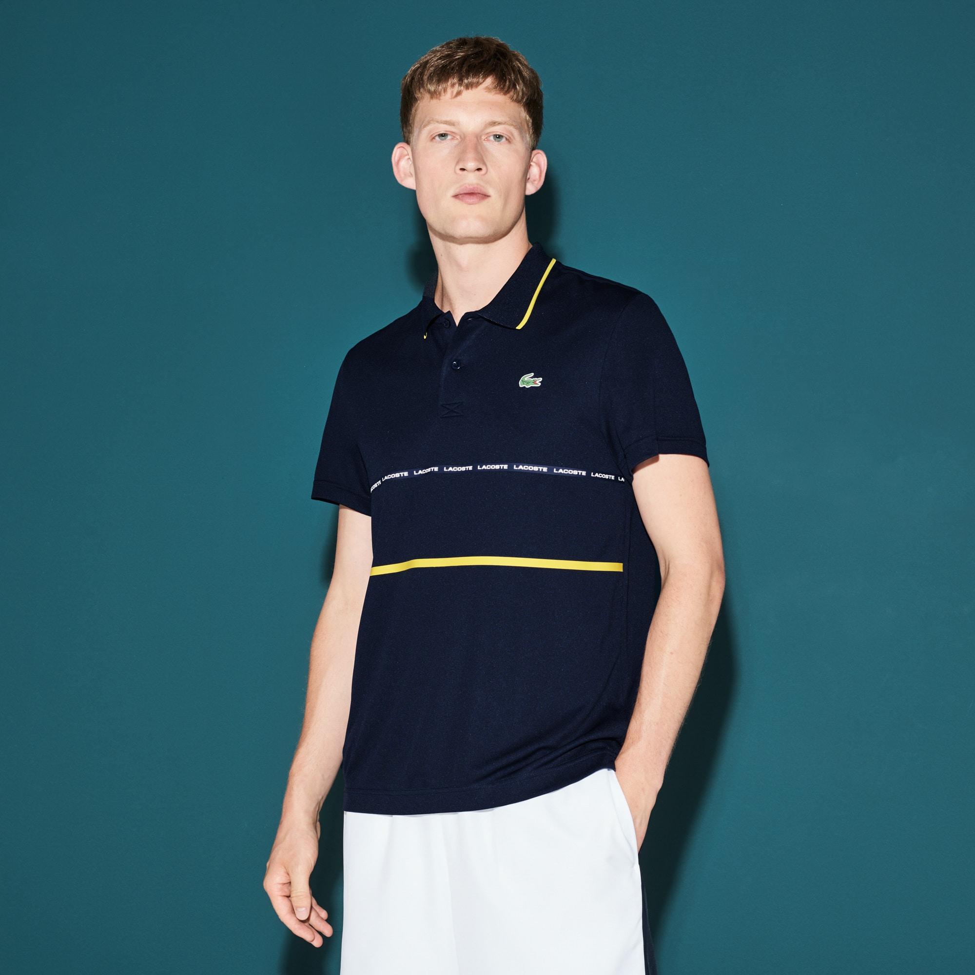 Polo Tennis Lacoste SPORT em piqué técnico com faixas a contrastar