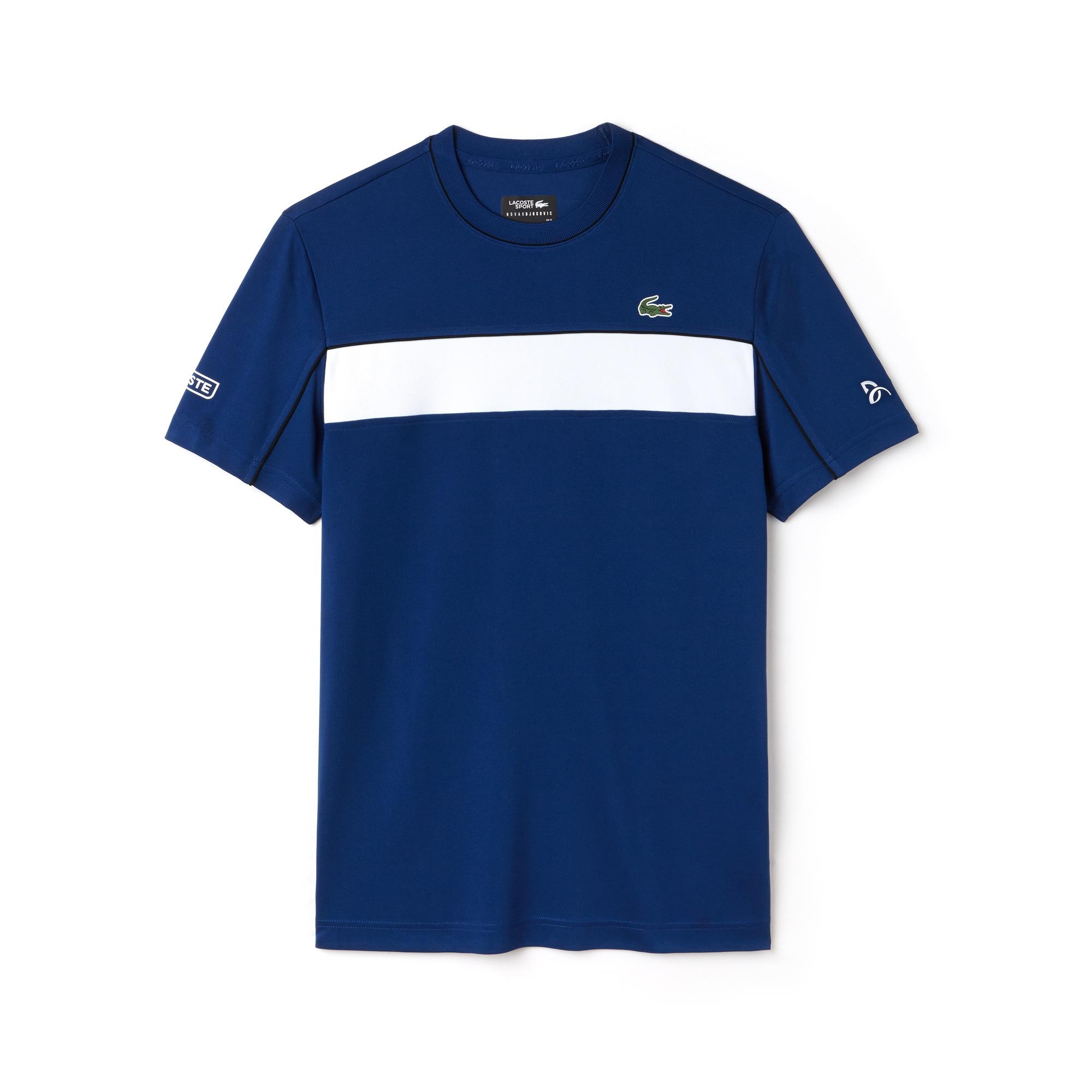 T-shirt LACOSTE SPORT COLEÇÃO NOVAK DJOKOVIC em piqué técnico color block
