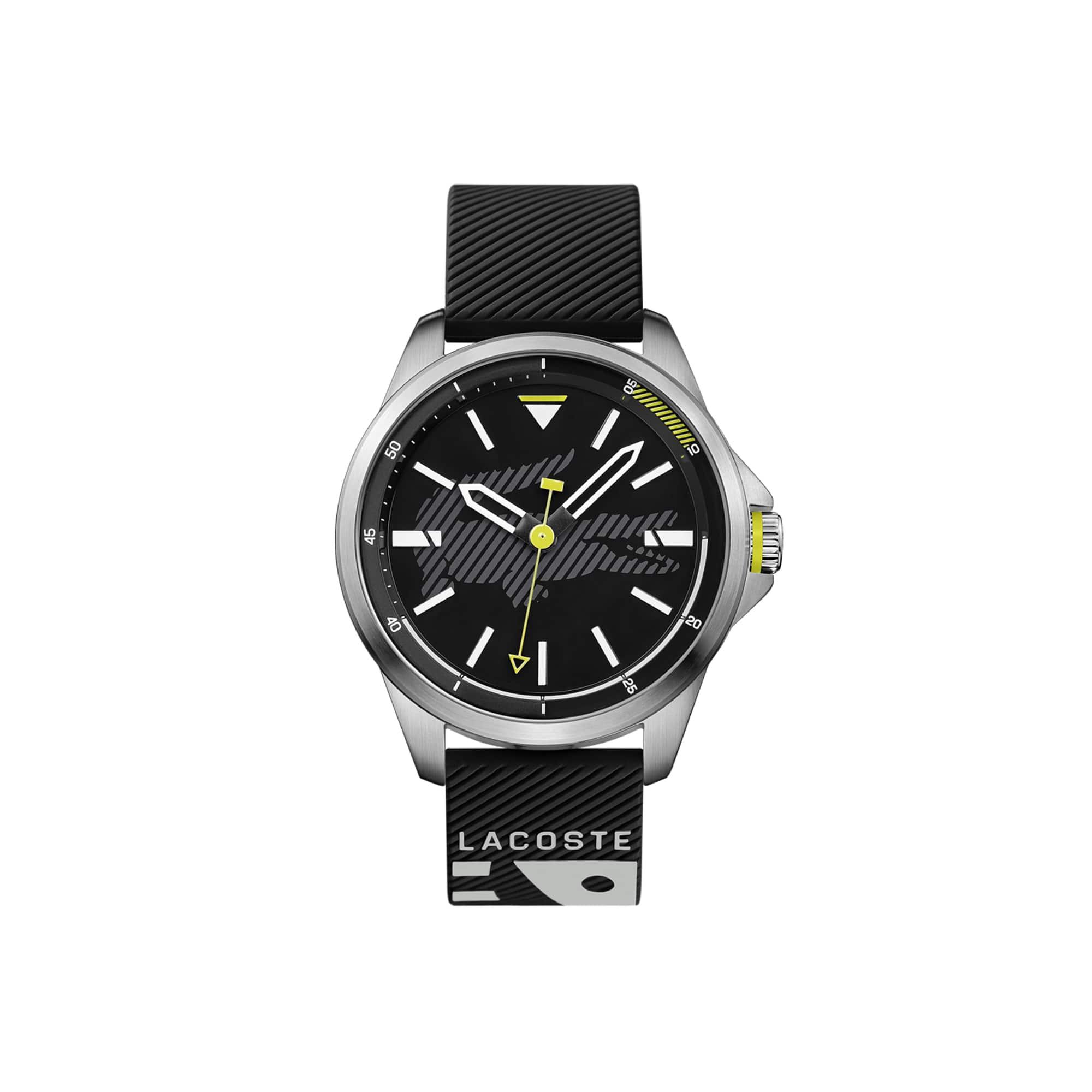 Relógio Capbreton com bracelete em silicone preto