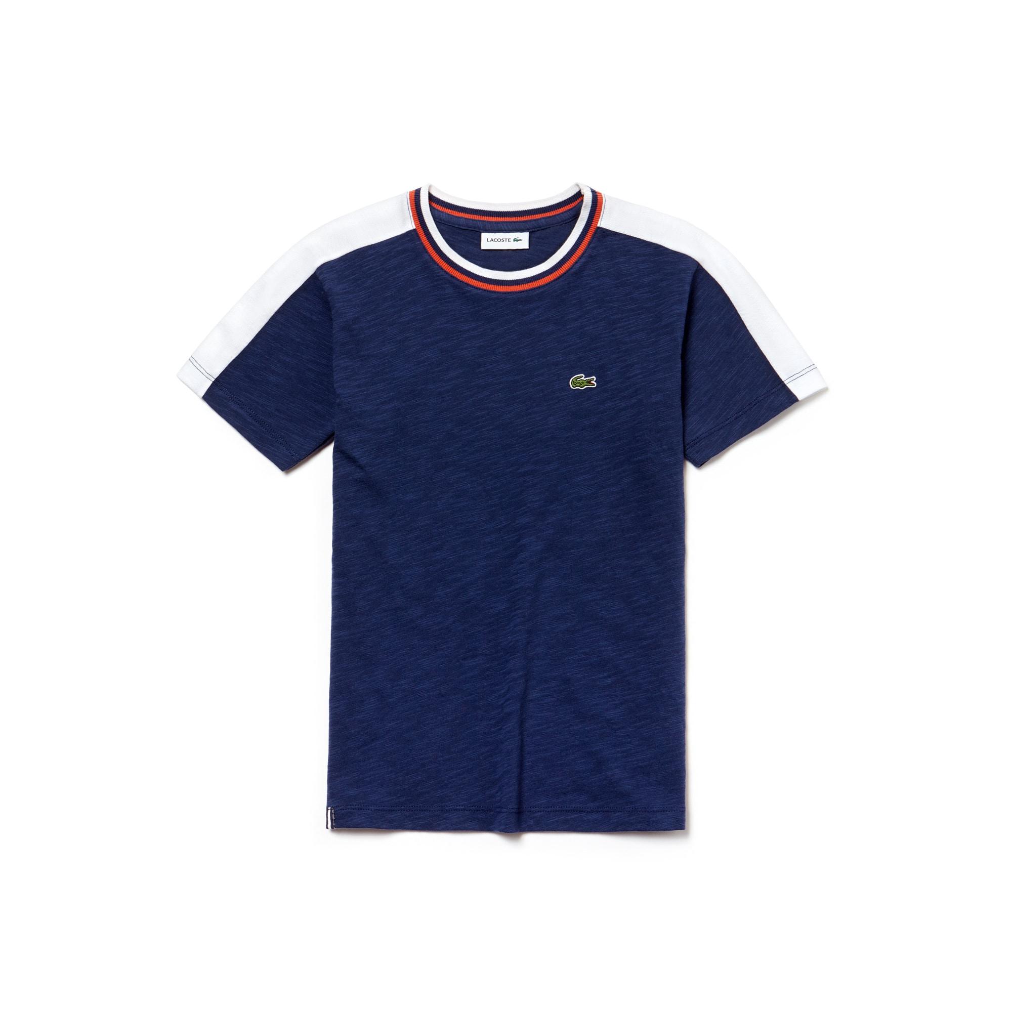 T-shirt Menino em jersey efeito mesclado color block