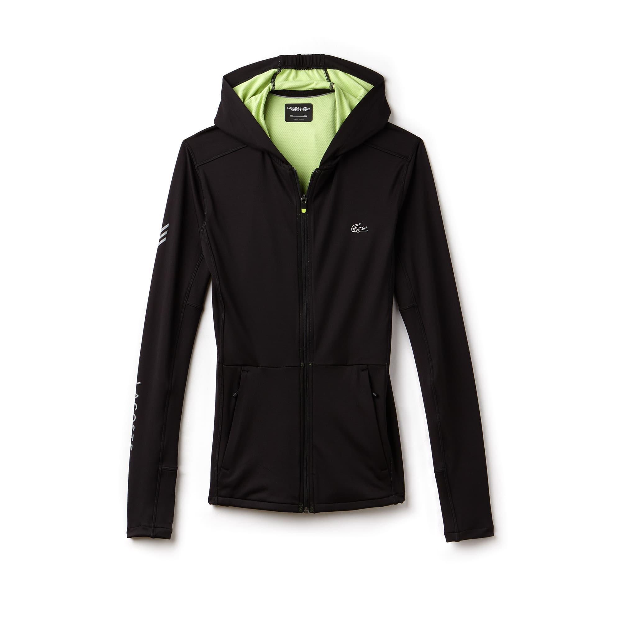 Sweatshirt com fecho de correr e capuz Tennis Lacoste SPORT em camada intermédia bicolor