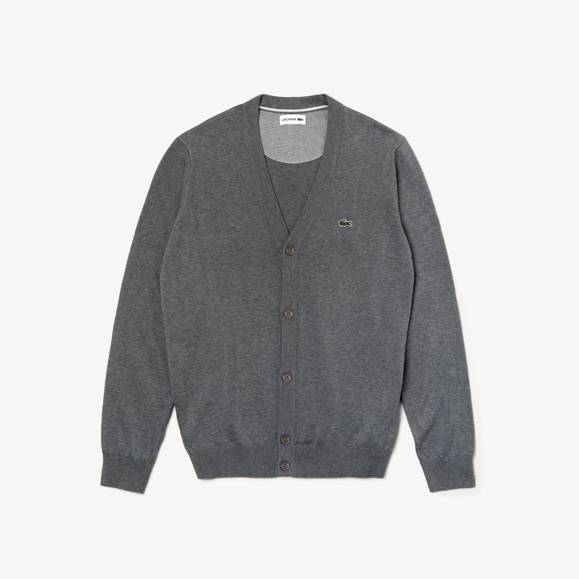 aec4eb631cc Casaco de malha em jersey de algodão unicolor