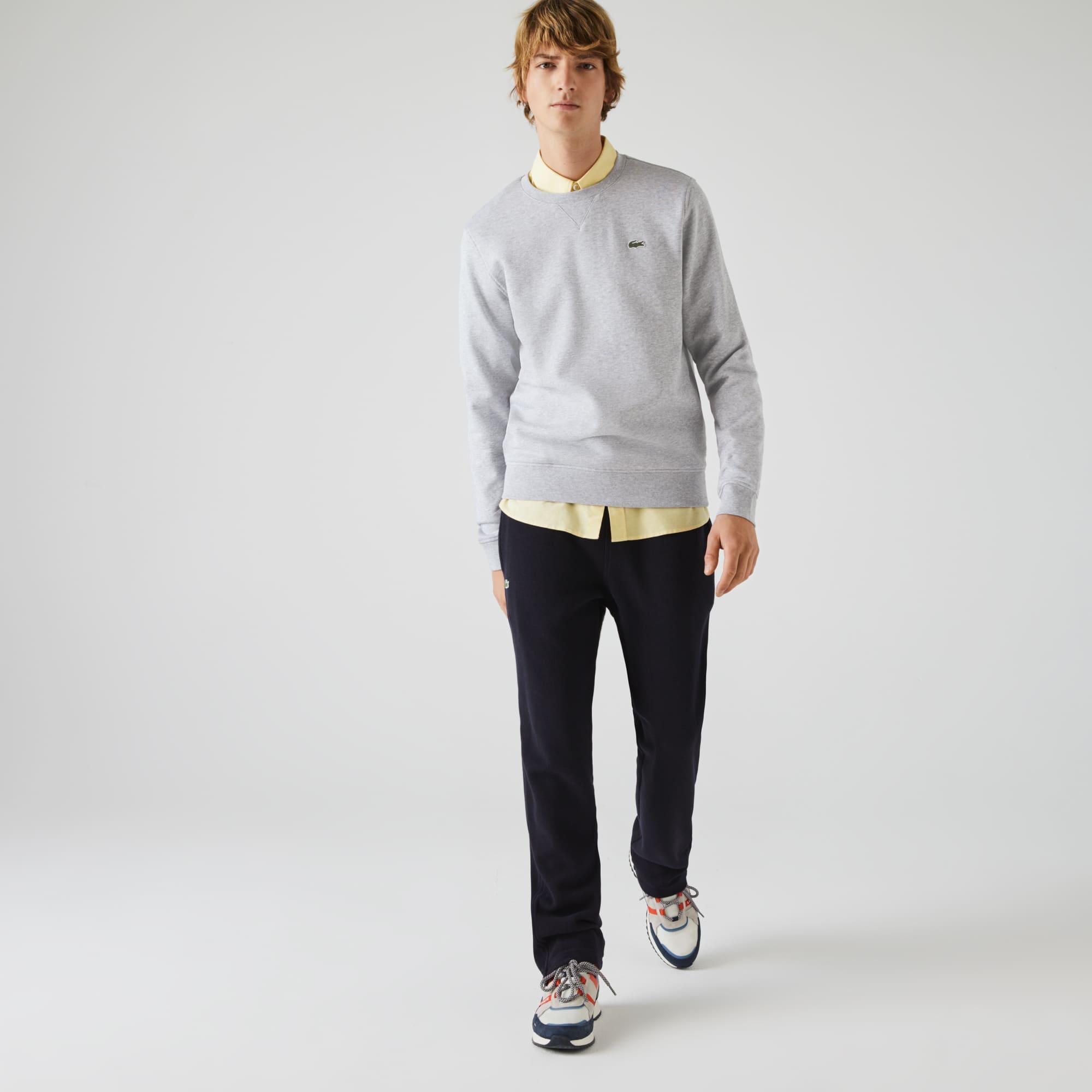 Sweatshirt decote redondo Lacoste SPORT em moletão unicolor