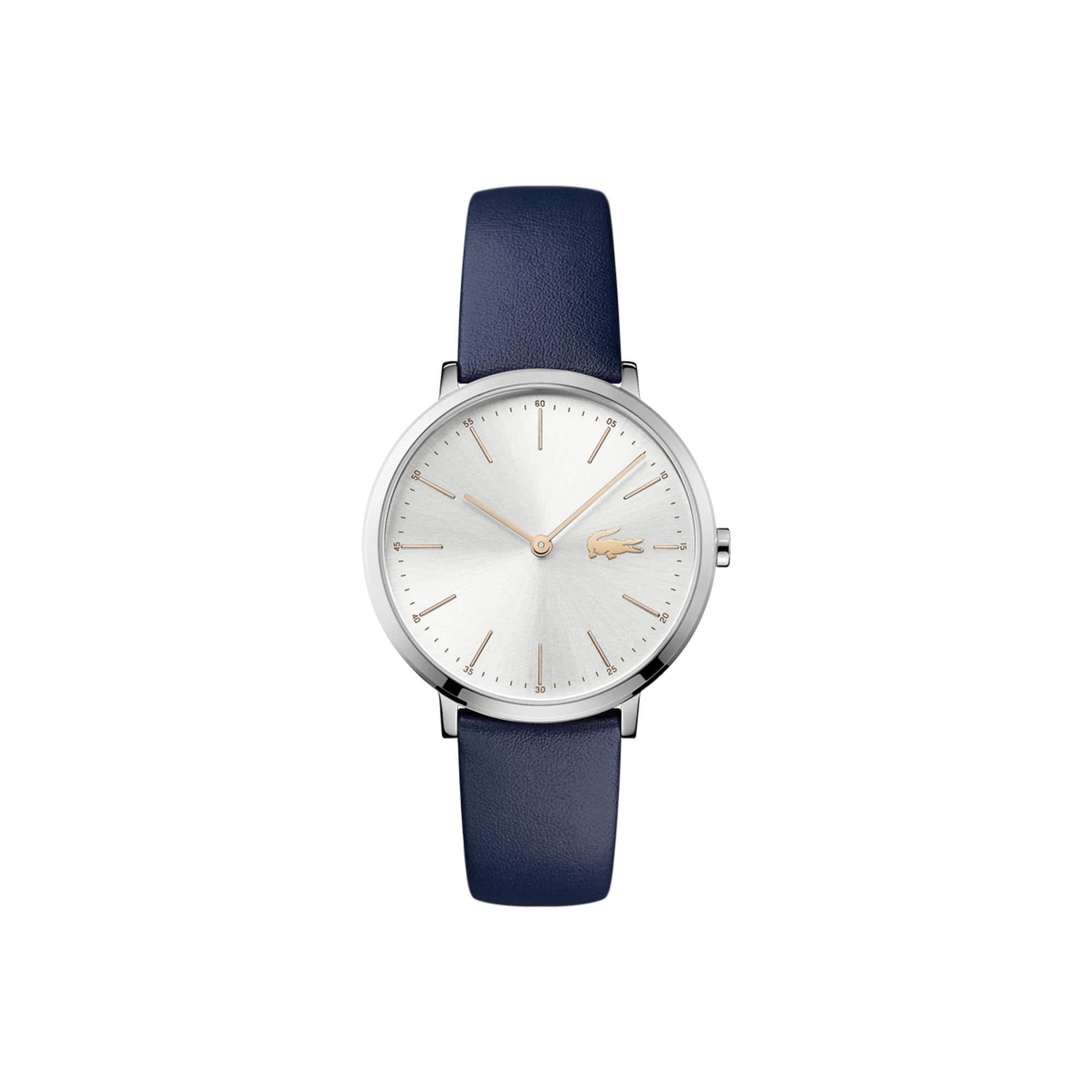 Relógio Moon Senhora com Bracelete em Couro Azul