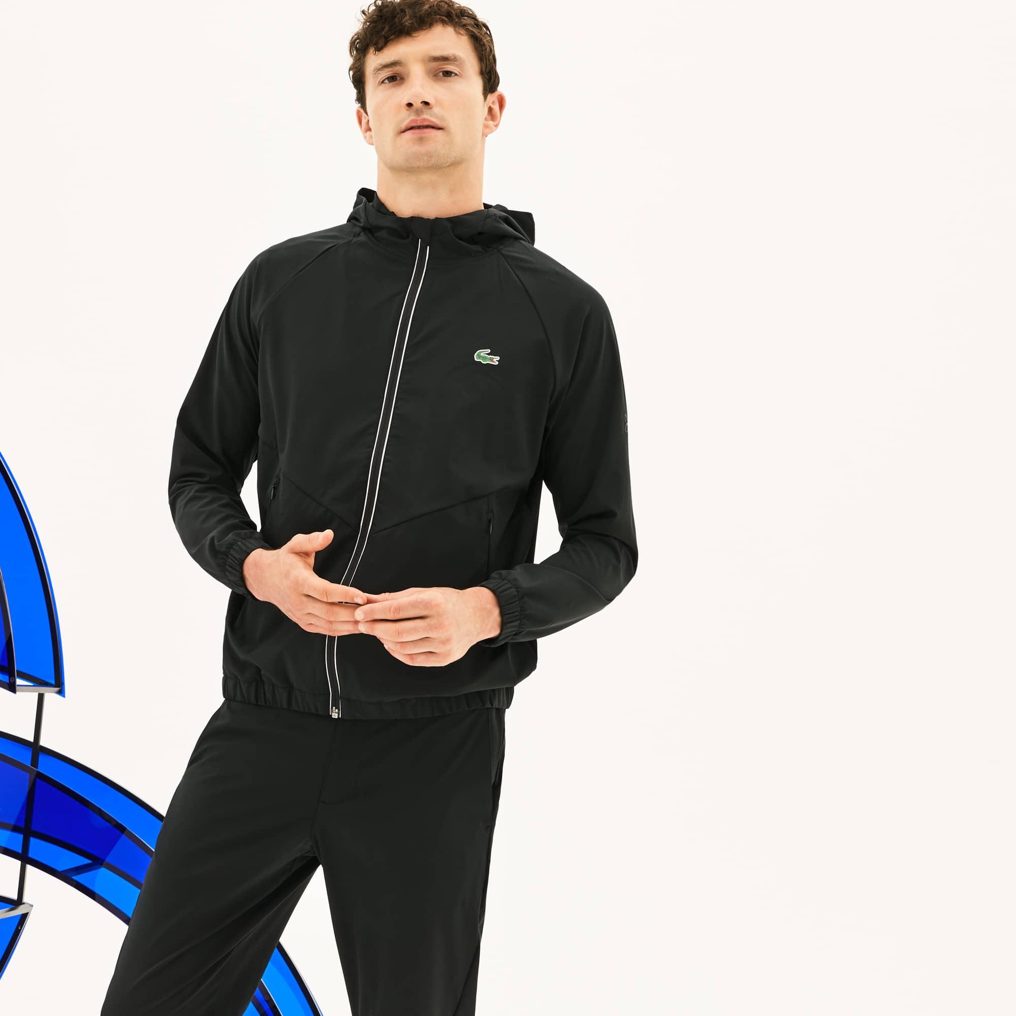 Casaco com capuz Lacoste SPORT , coleção Novak Djokovic - Off Court de alta qualidade em camada intermédia técnica stretch