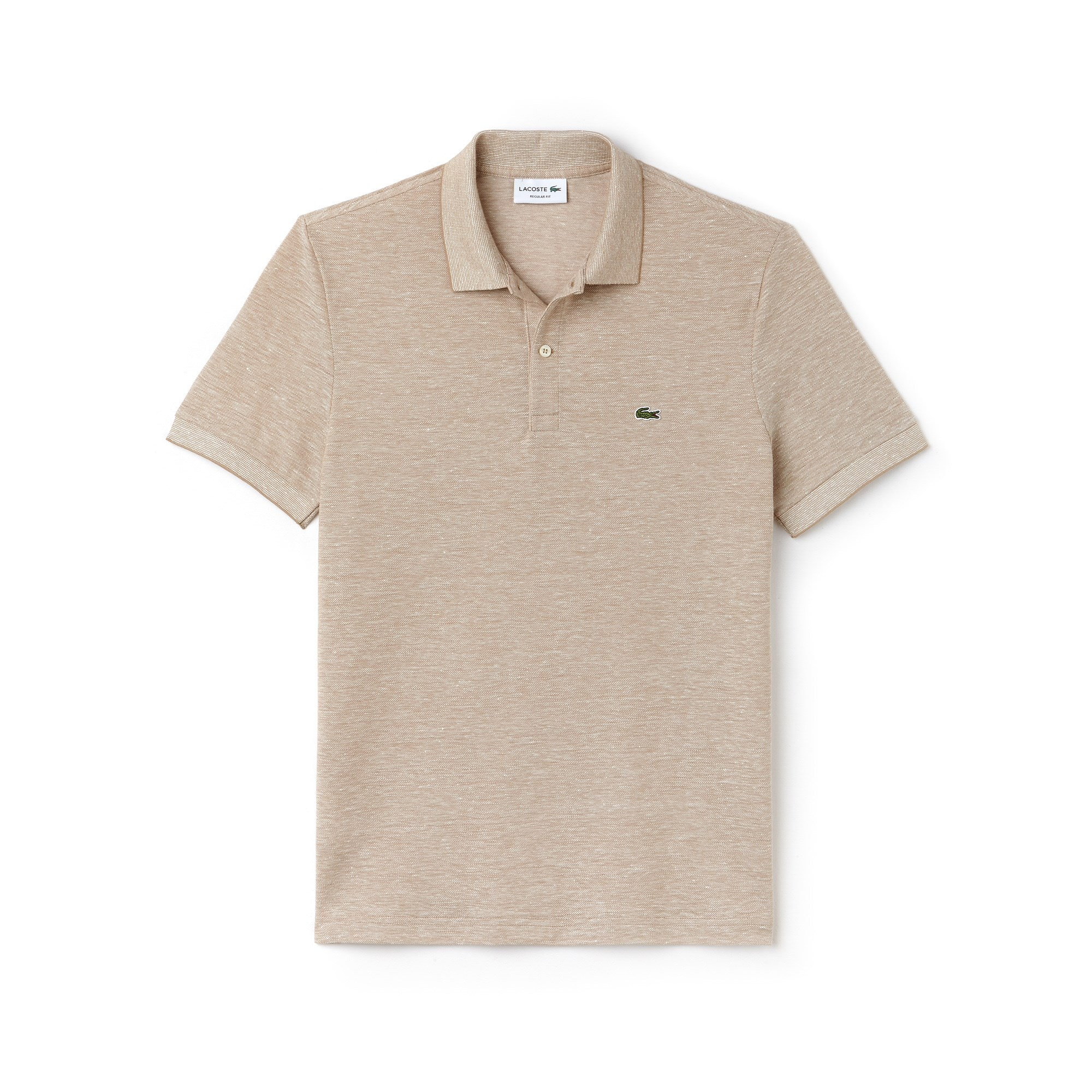Polo regular fit Lacoste em piqué caviar texturado unicolor