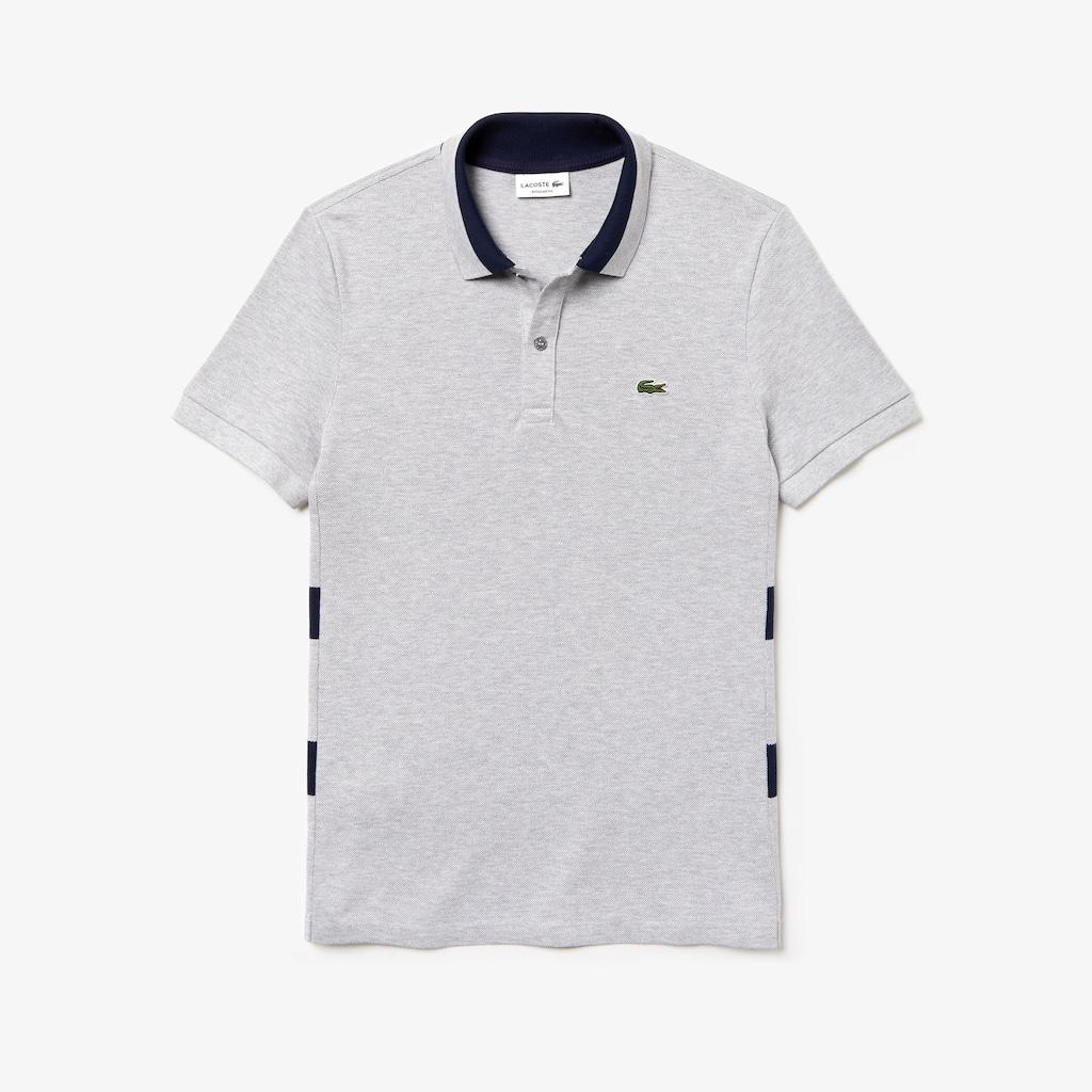 Camisa polo piqué de algodão petit às riscas regular fit Lacoste ... 8c59a6c4d4