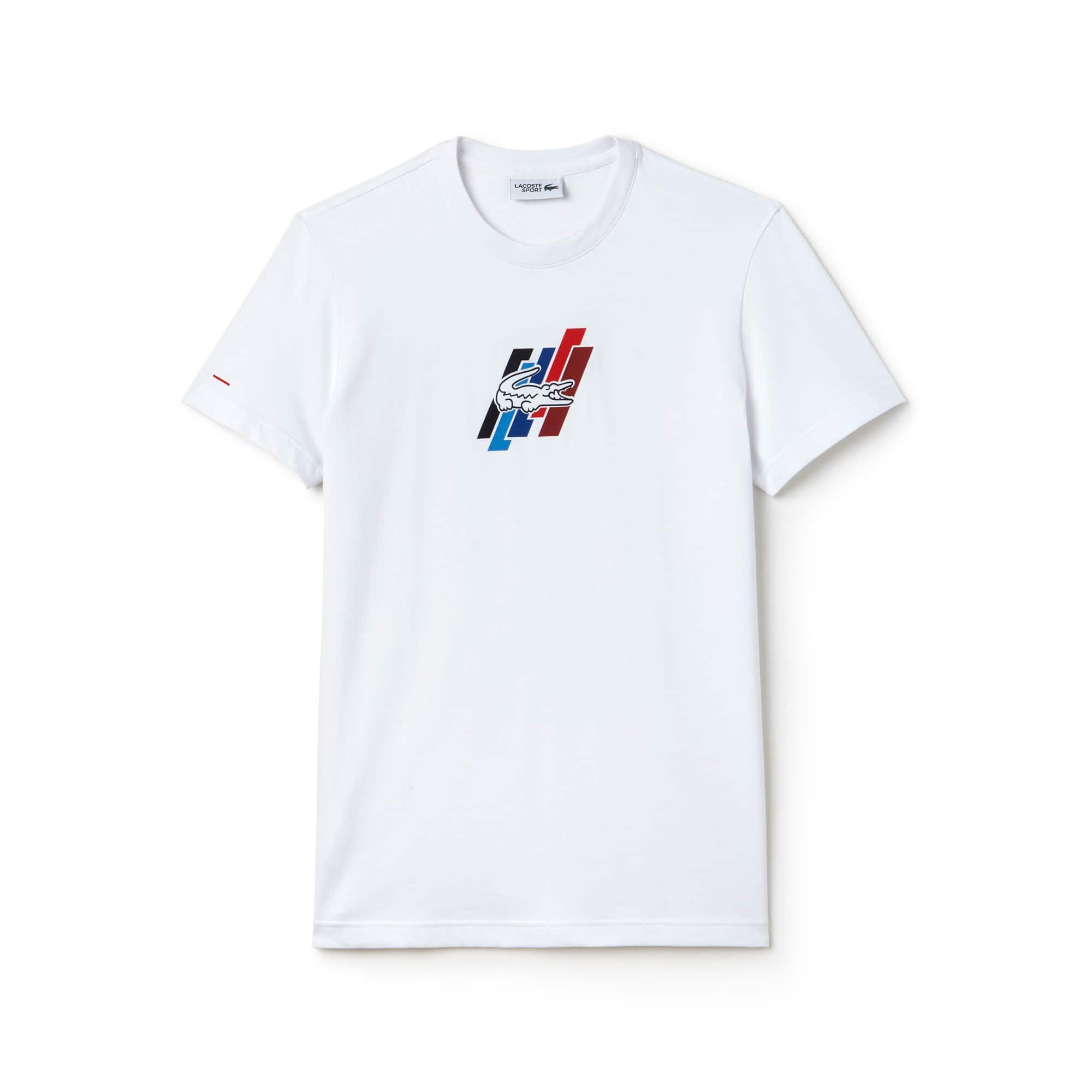 T-shirt decote redondo Lacoste SPORT em jersey Edição FRENCH SPORTING SPIRIT